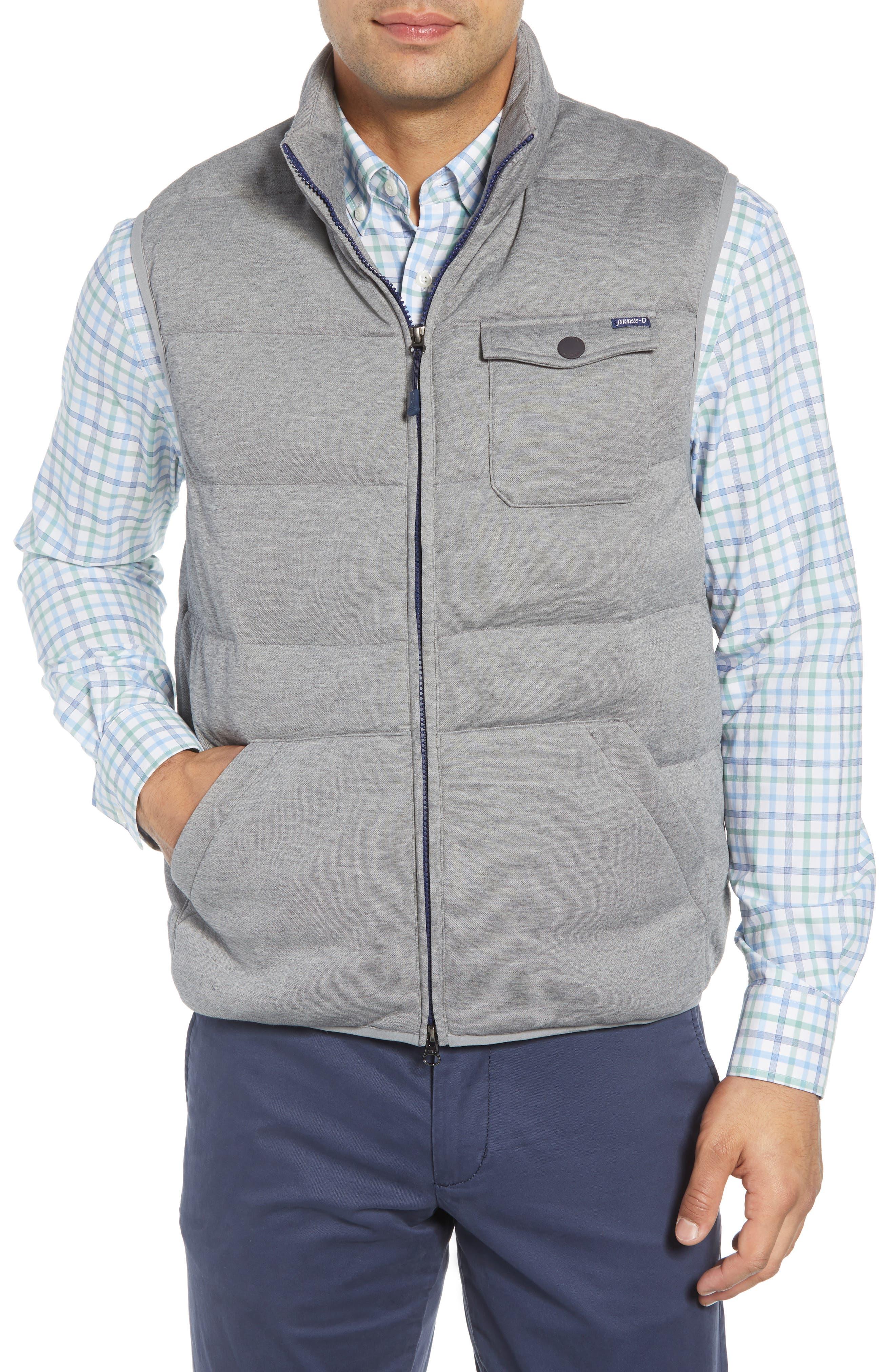 Lassiter Classic Fit Down Camper Vest,                             Alternate thumbnail 4, color,                             LIGHT GREY