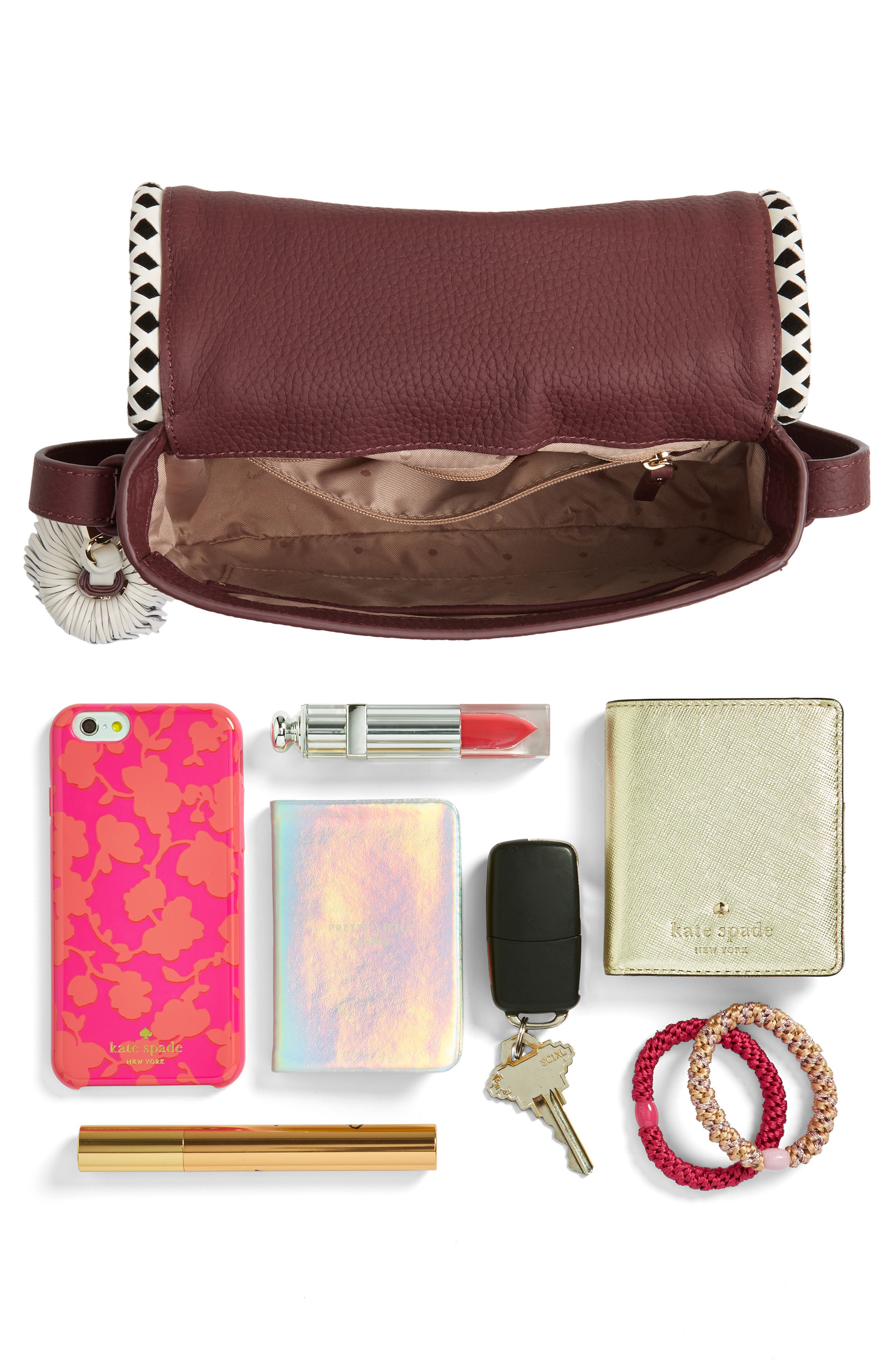 crown street - jasper leather saddle bag,                             Alternate thumbnail 13, color,