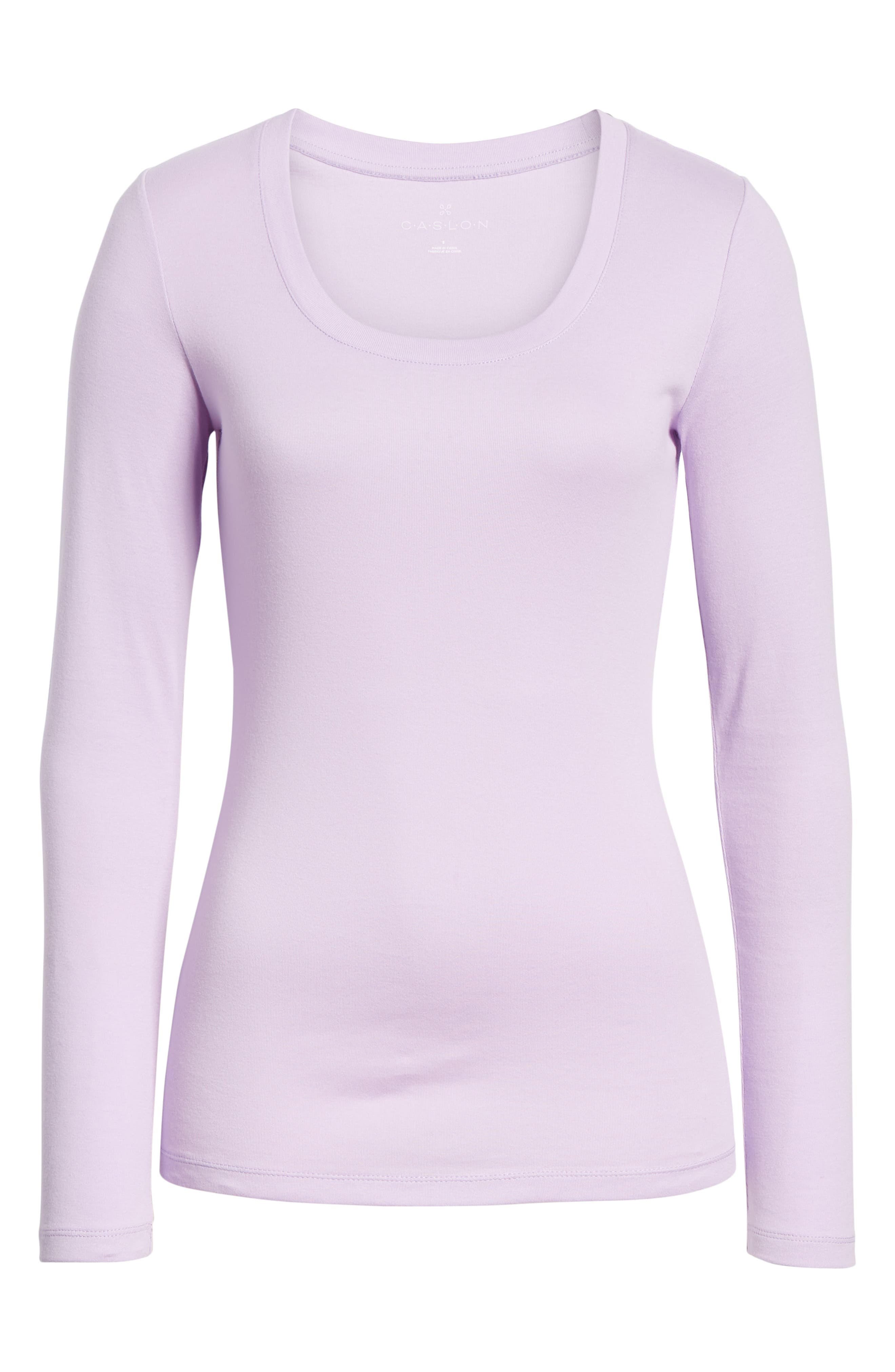 'Melody' Long Sleeve Scoop Neck Tee,                             Alternate thumbnail 7, color,                             530