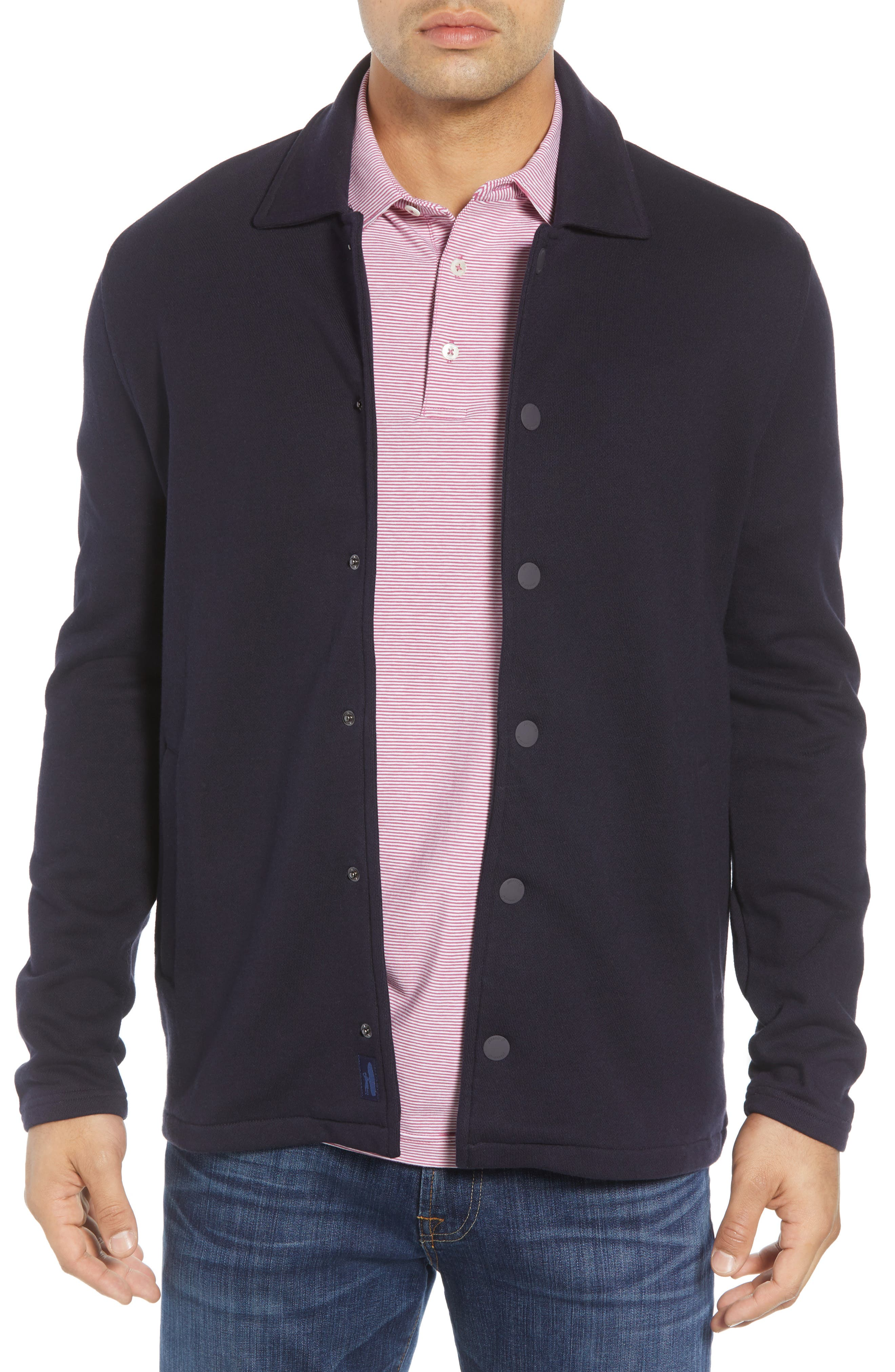 Norfolk Classic Fit Terry Jacket,                         Main,                         color, 464