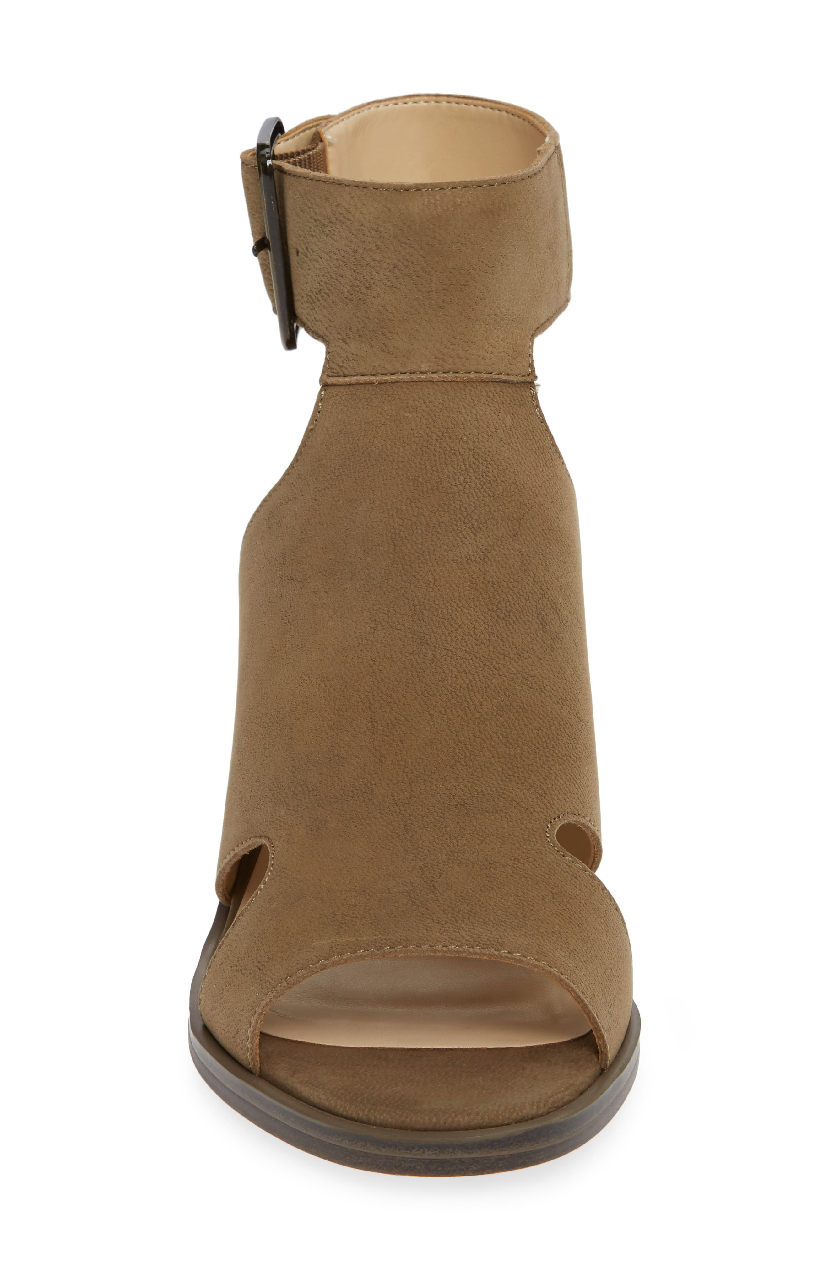 Tally Ankle Cuff Sandal,                             Alternate thumbnail 4, color,                             ANTIQUE GREEN NUBUCK