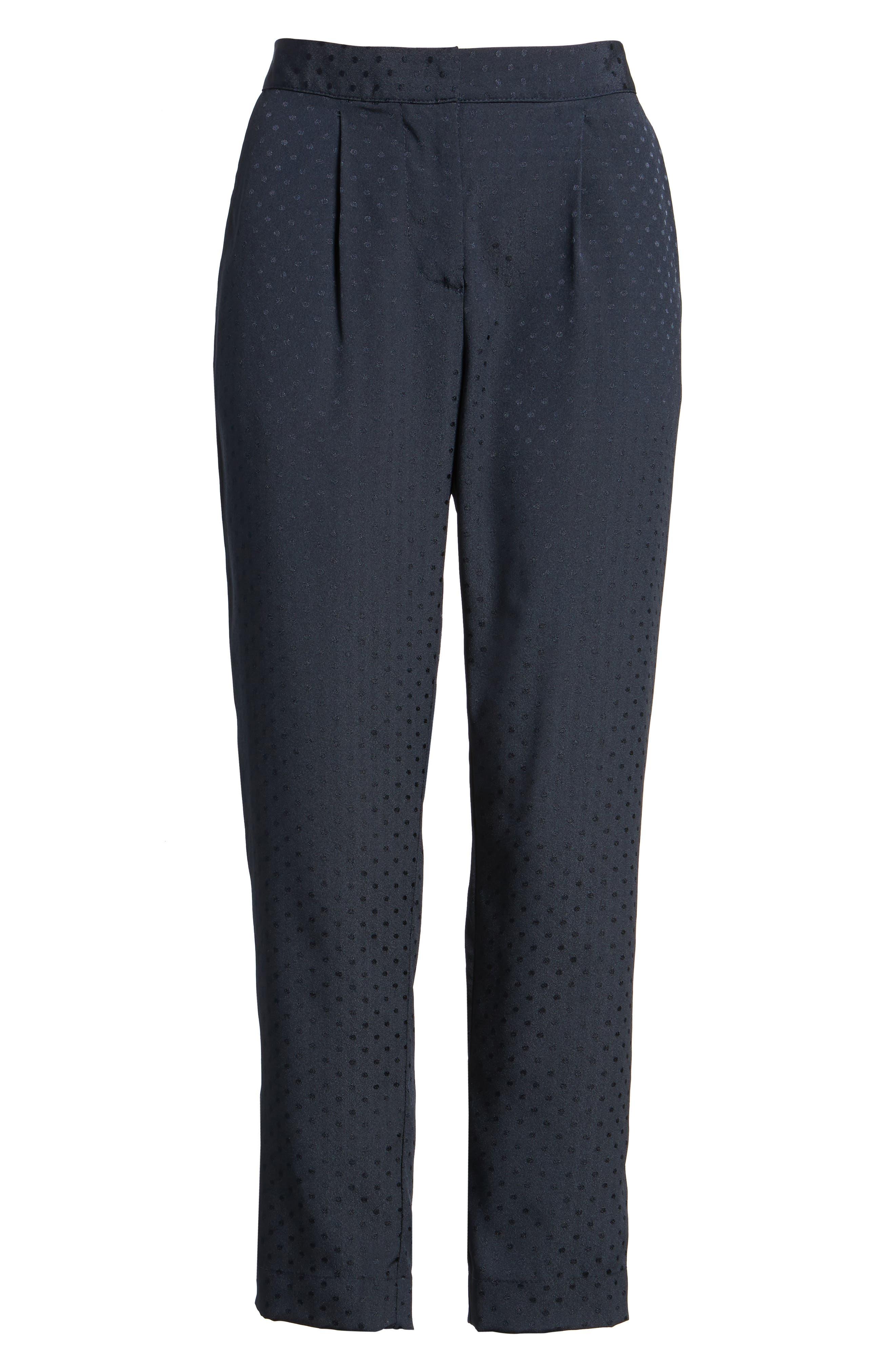 Tonal Dot Slim Pants,                             Alternate thumbnail 6, color,                             415