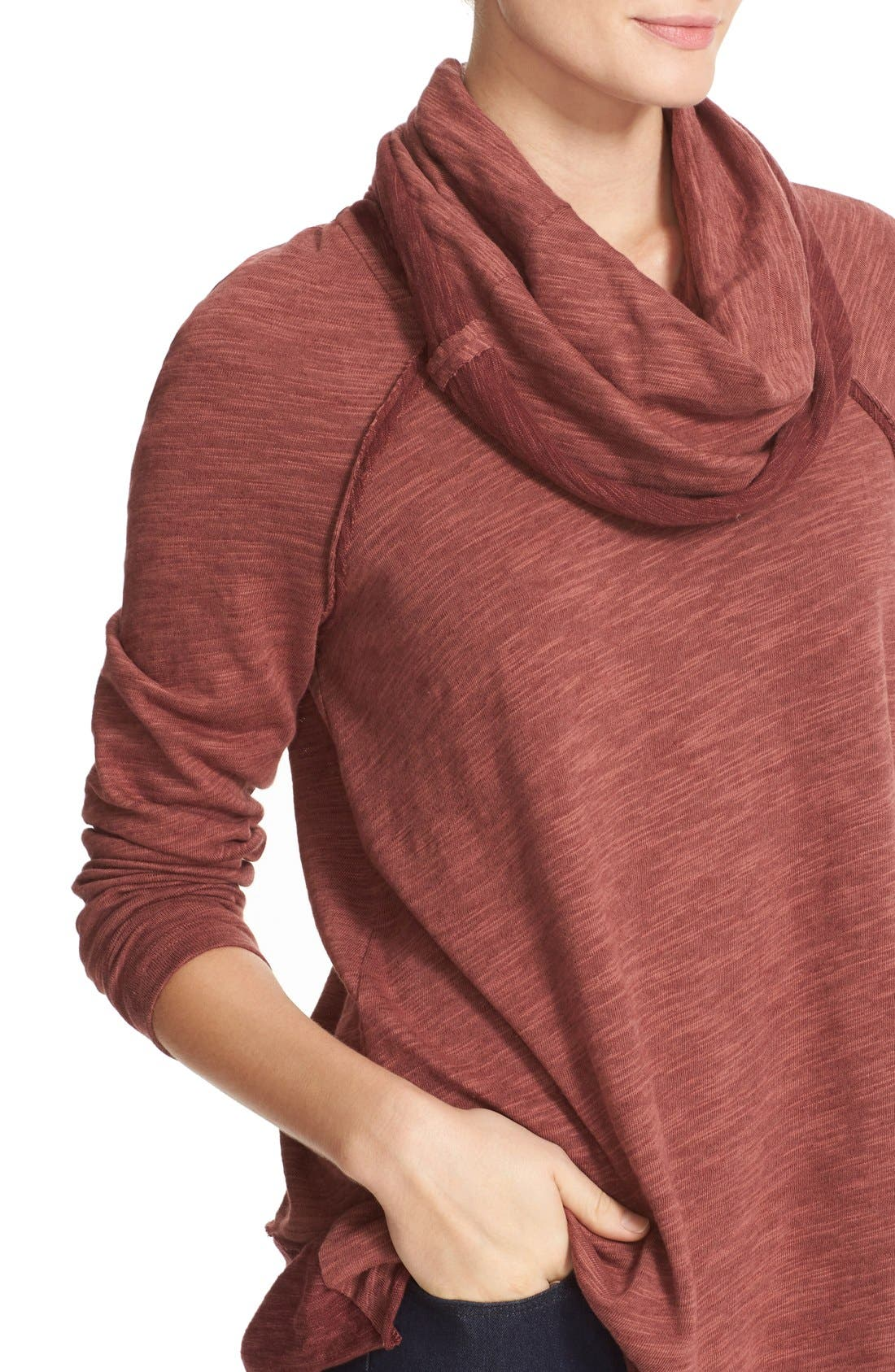 'Beach Cocoon' Cowl Neck Pullover,                             Alternate thumbnail 42, color,