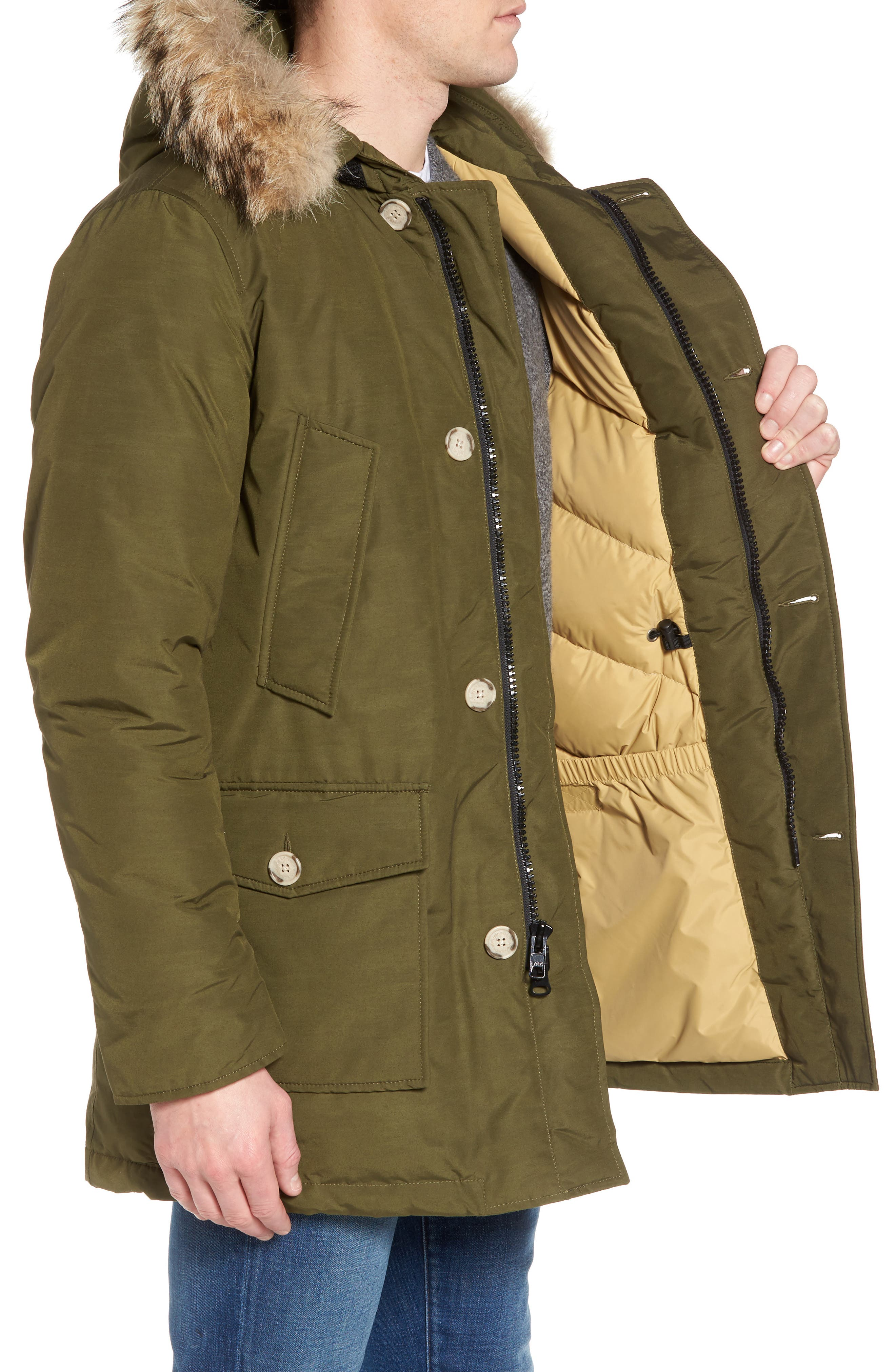 John Rich & Bros. Arctic Parka with Genuine Coyote Fur Trim,                             Alternate thumbnail 16, color,
