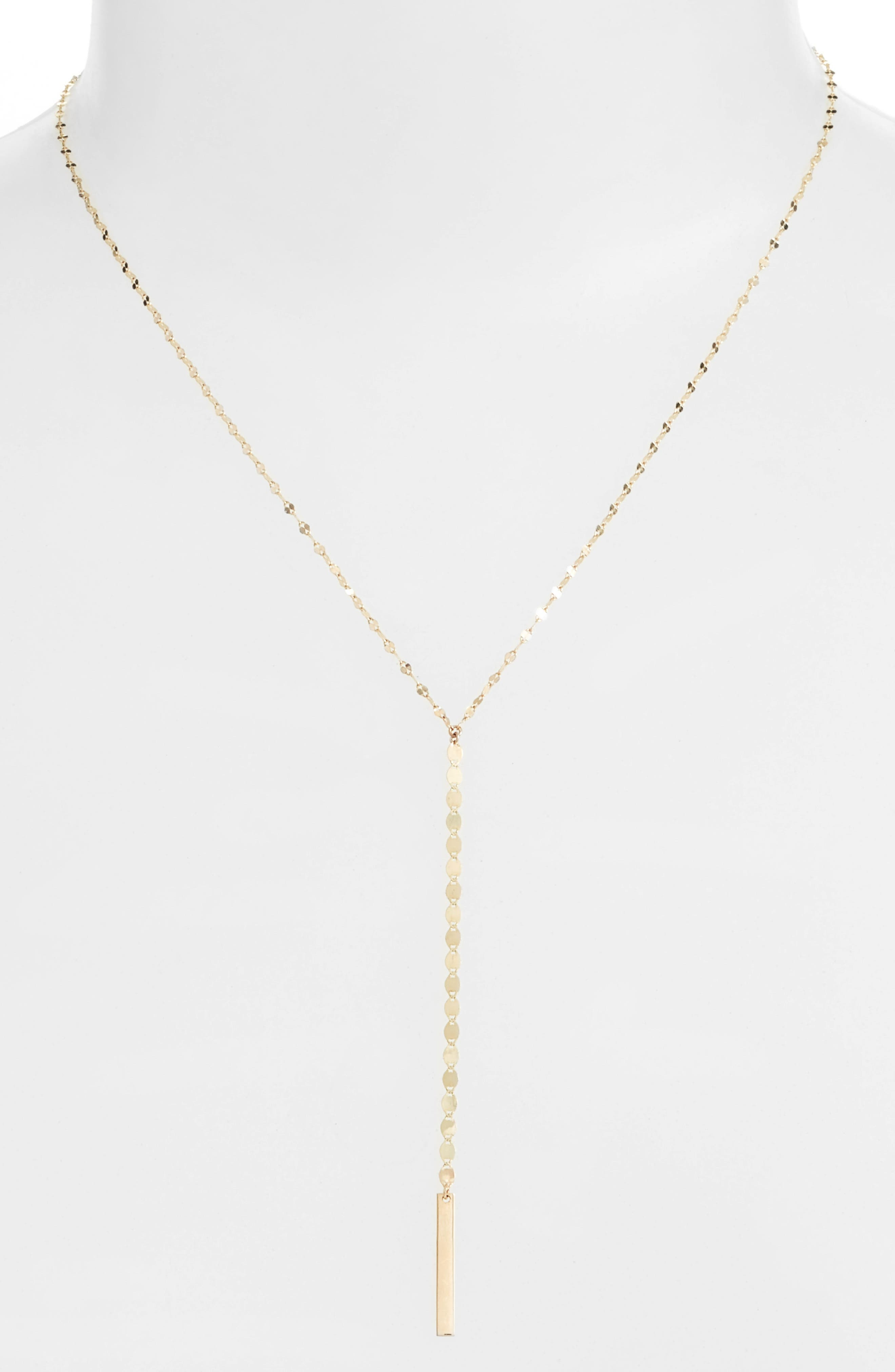 Nude Remix Bar Y-Necklace,                             Alternate thumbnail 2, color,                             YELLOW GOLD