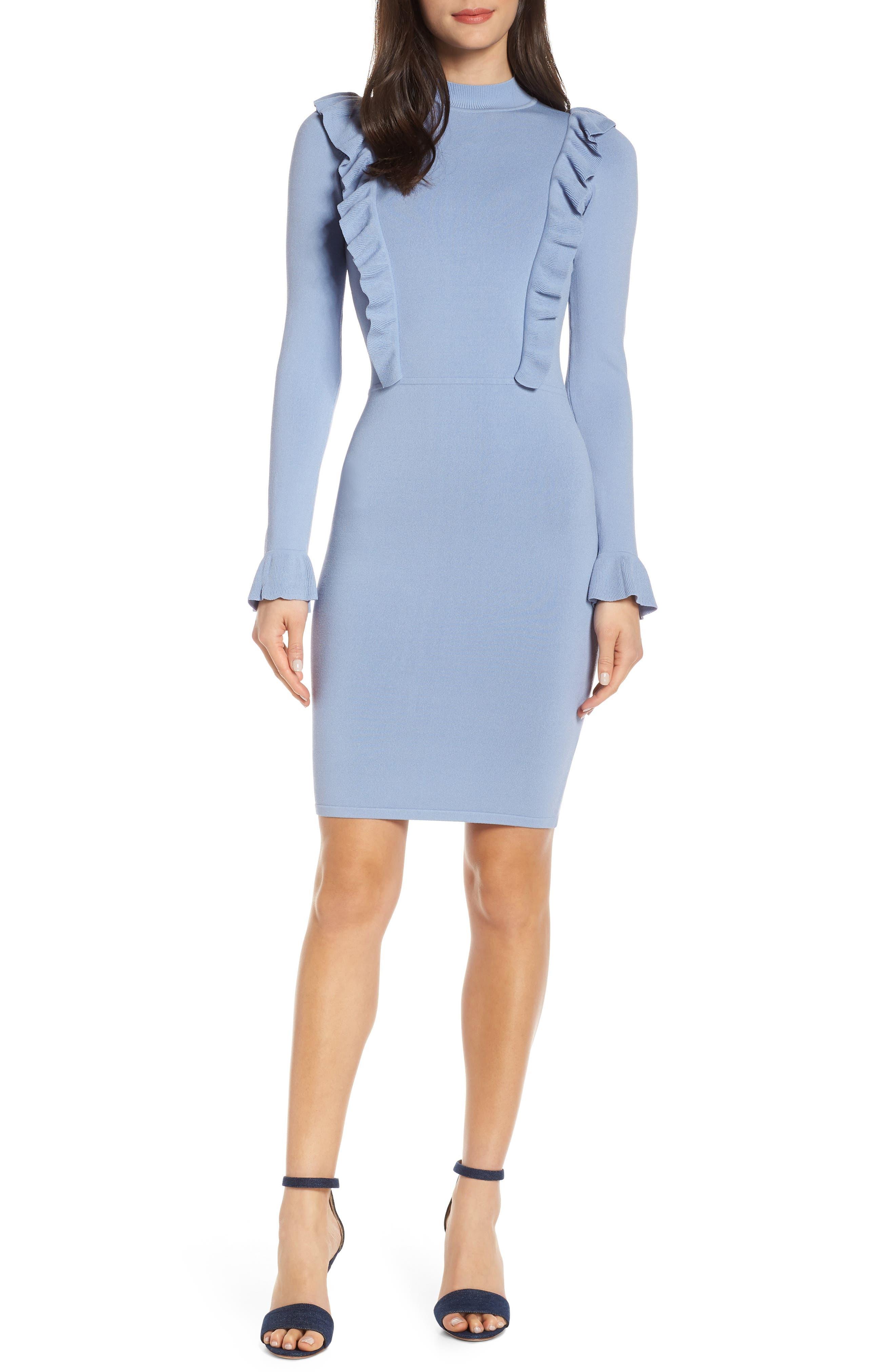 Ali & Jay Rose Garden Sweater Dress, Blue