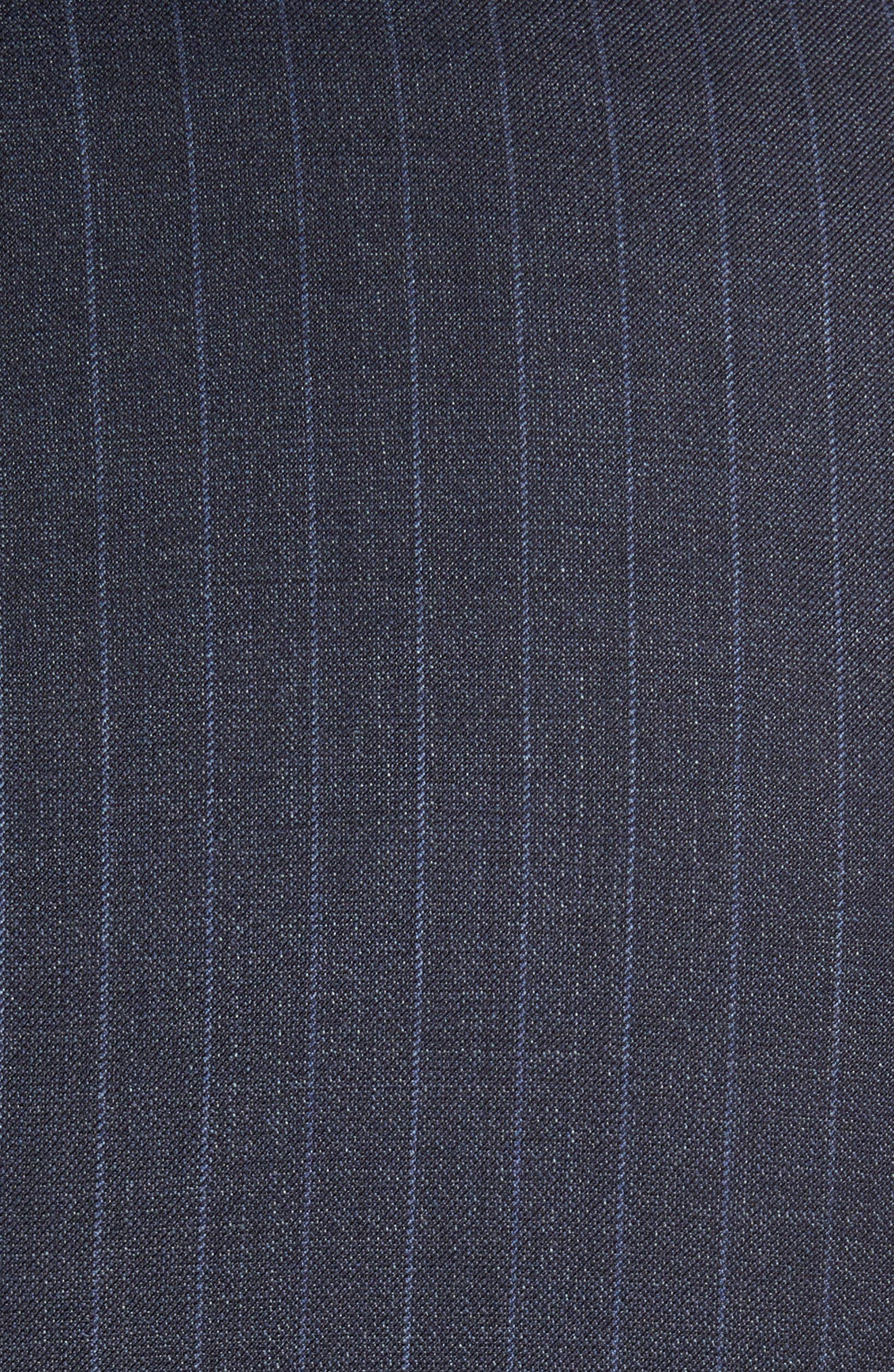 Huge/Genius Trim Fit Stripe Wool Suit,                             Alternate thumbnail 7, color,                             410