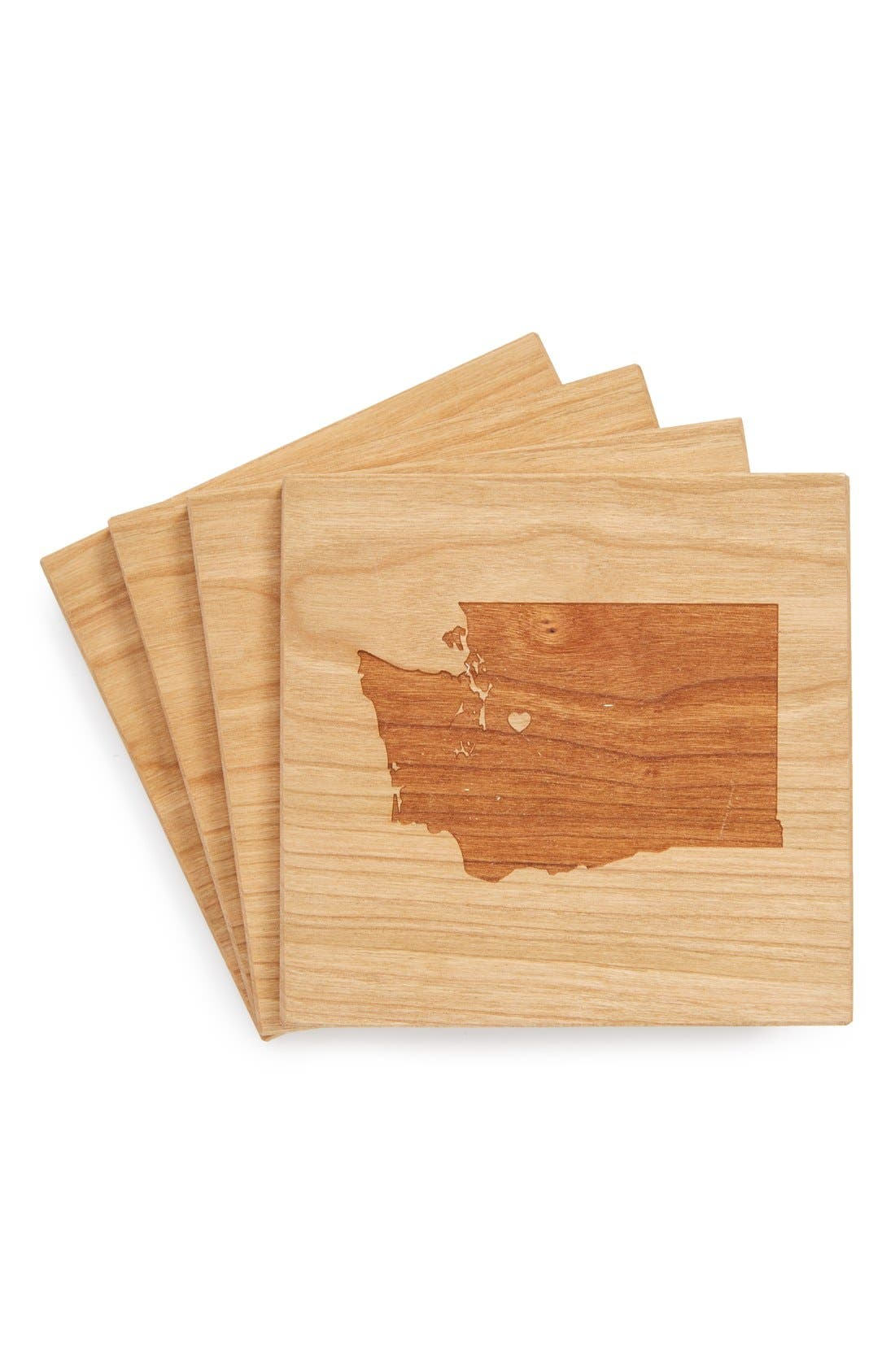 'State Silhouette' Coasters,                             Main thumbnail 20, color,