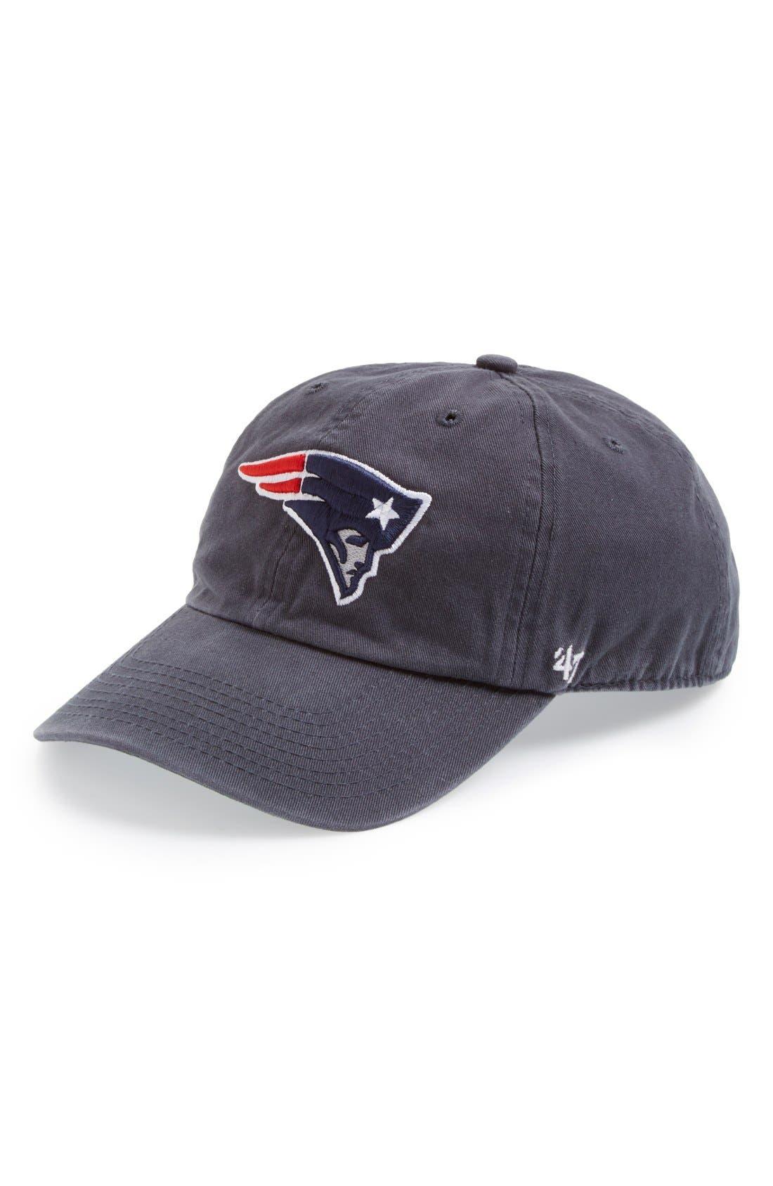 'New England Patriots - Clean Up' Cap,                             Main thumbnail 1, color,