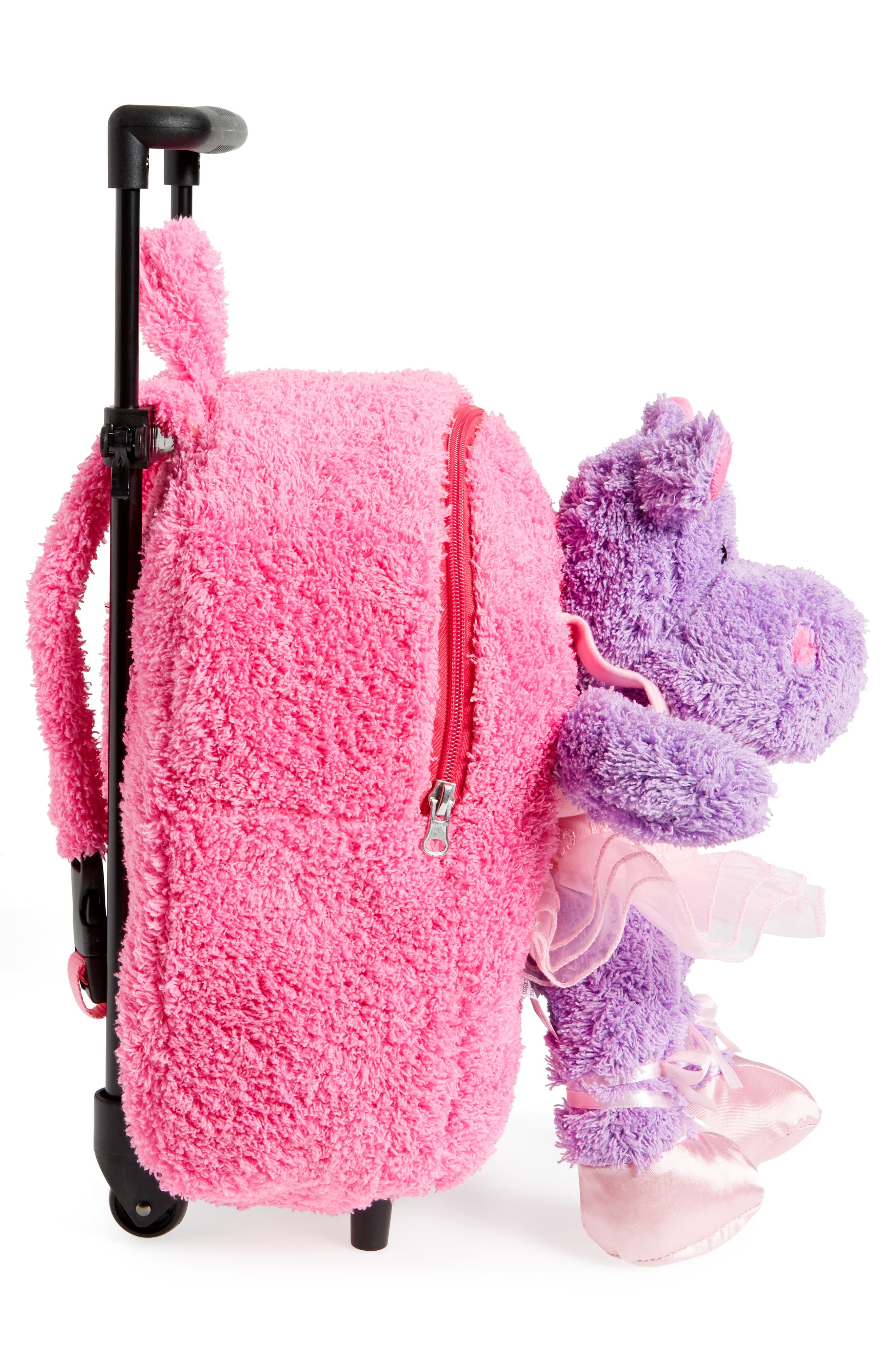 Trolley Rolling Backpack Set,                             Alternate thumbnail 5, color,                             BRIGHT PINK