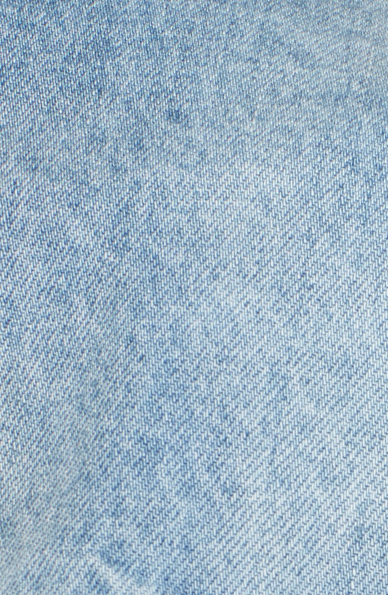 Embellished Ripped Denim Jacket,                             Alternate thumbnail 6, color,                             430
