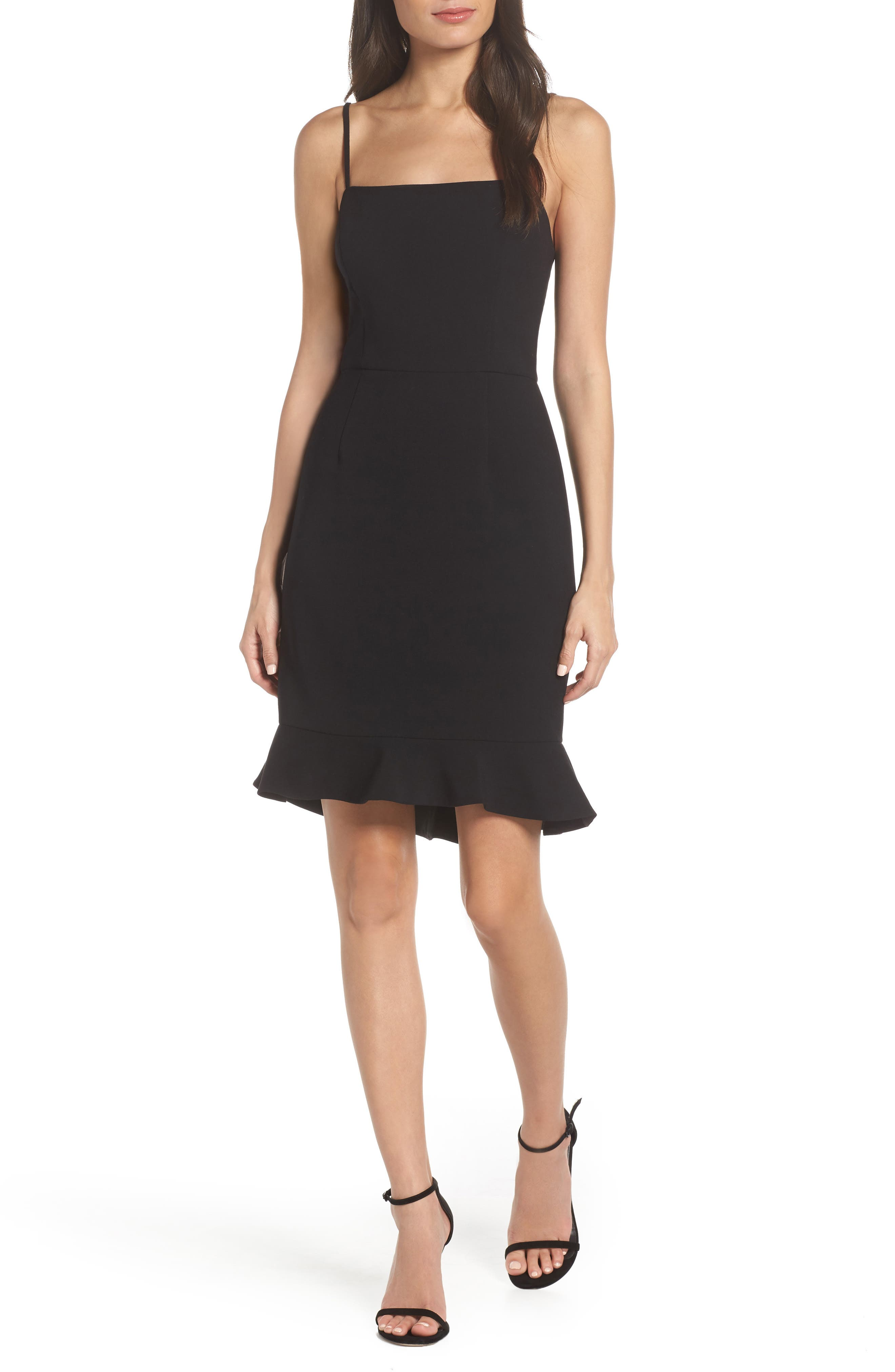 Whisper Sweetheart Dress,                             Main thumbnail 1, color,                             BLACK