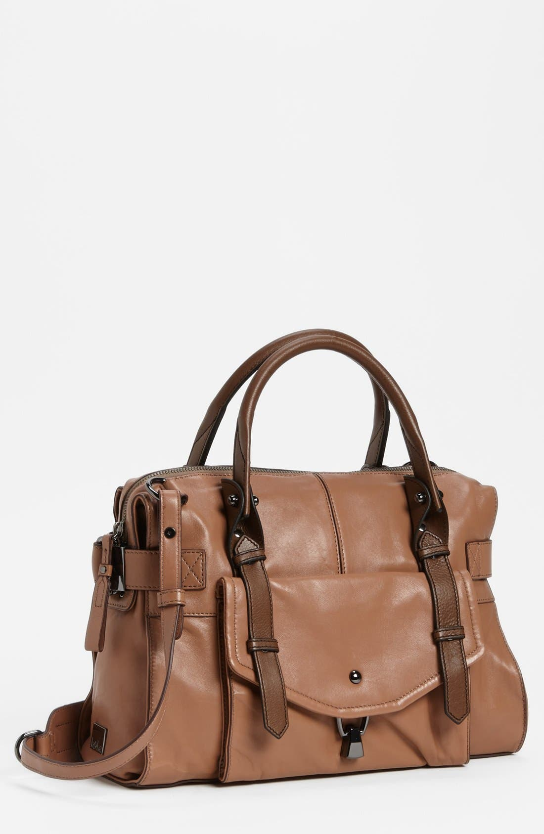 'Kendal' Leather Satchel, Main, color, 200