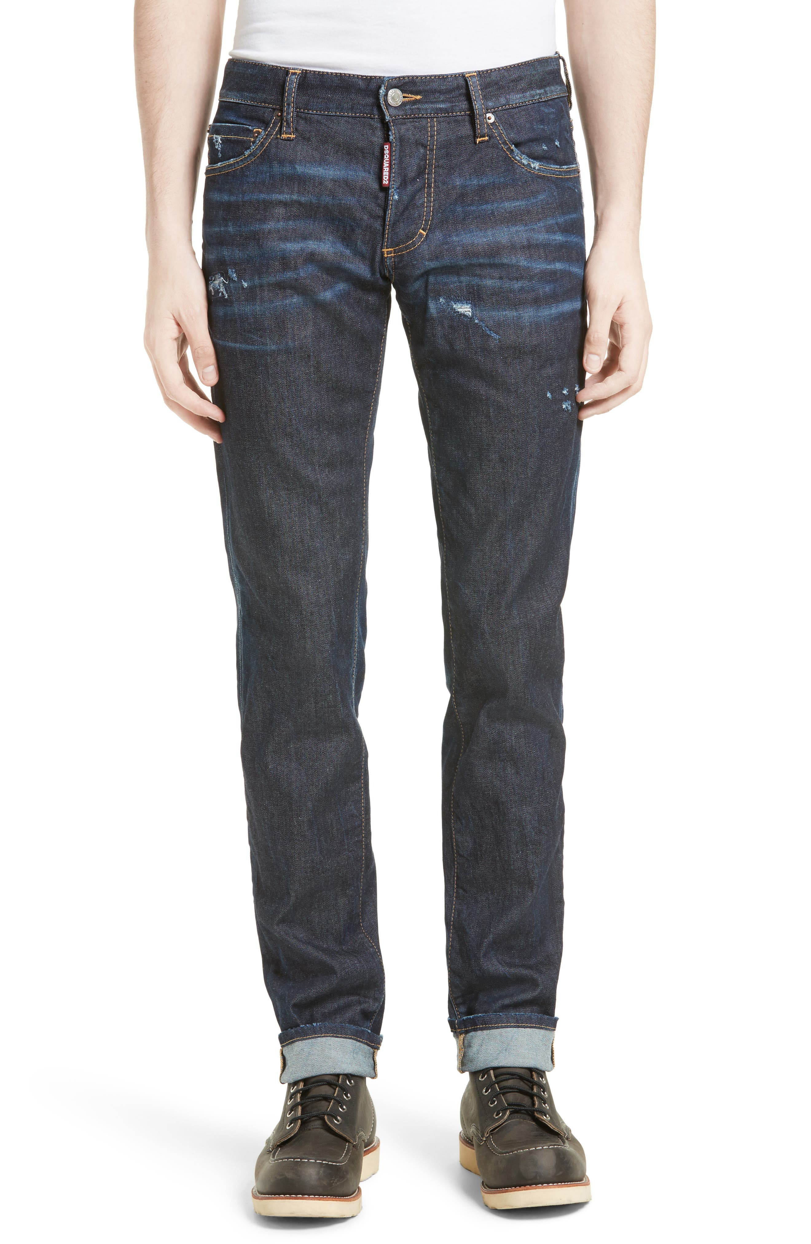 Slim Nothing Jeans,                             Main thumbnail 1, color,                             BLUE