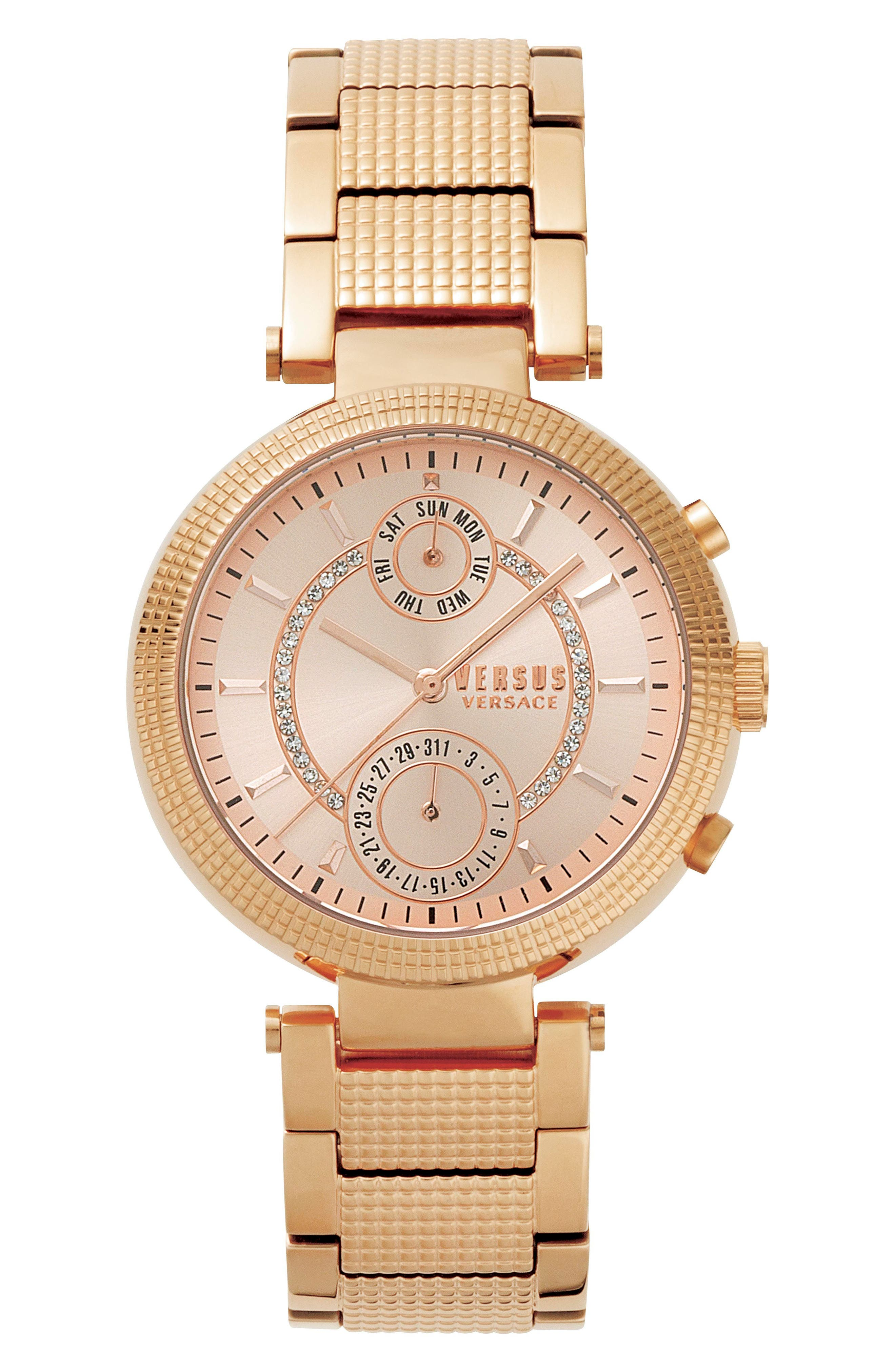 Versus by Versace Star Ferry Chronograph Bracelet Watch, 38mm,                             Main thumbnail 4, color,