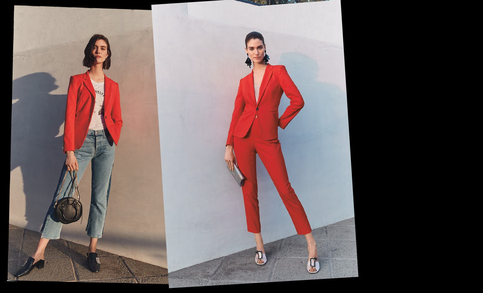 Double take: how to wear a suit two ways.