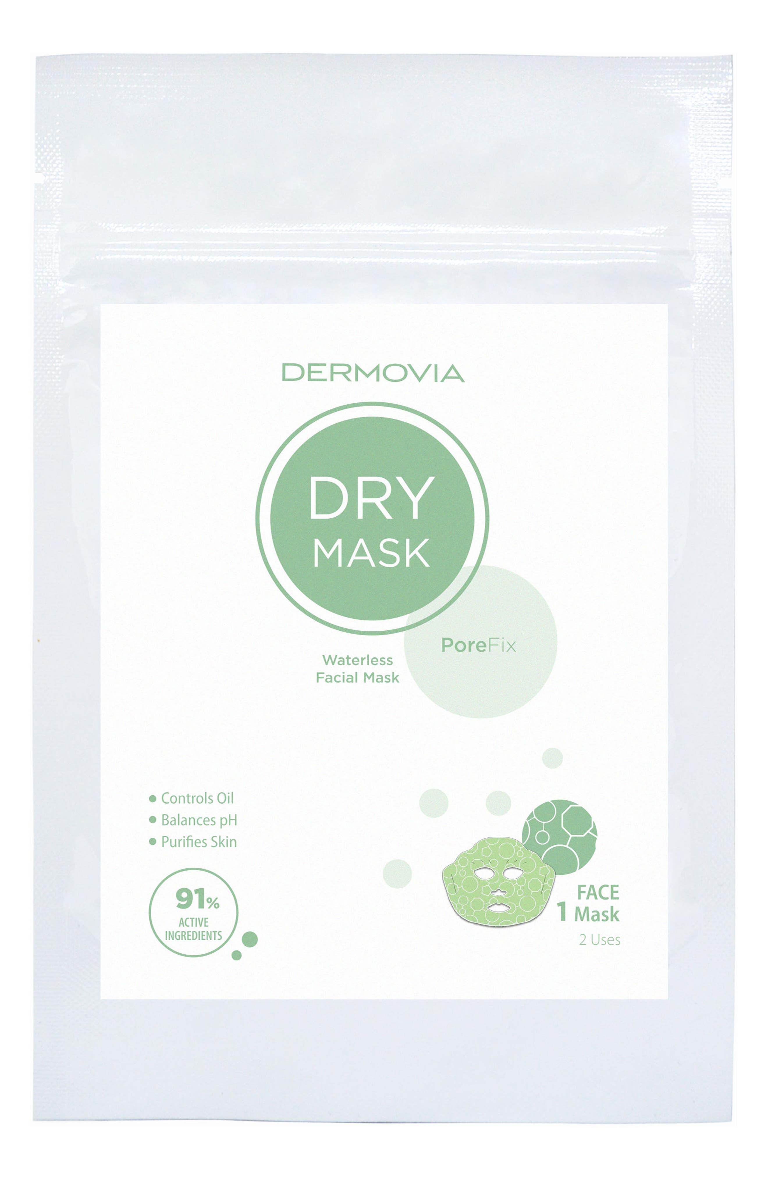 DRY Mask PoreFix Waterless Facial Mask,                         Main,                         color, NO COLOR