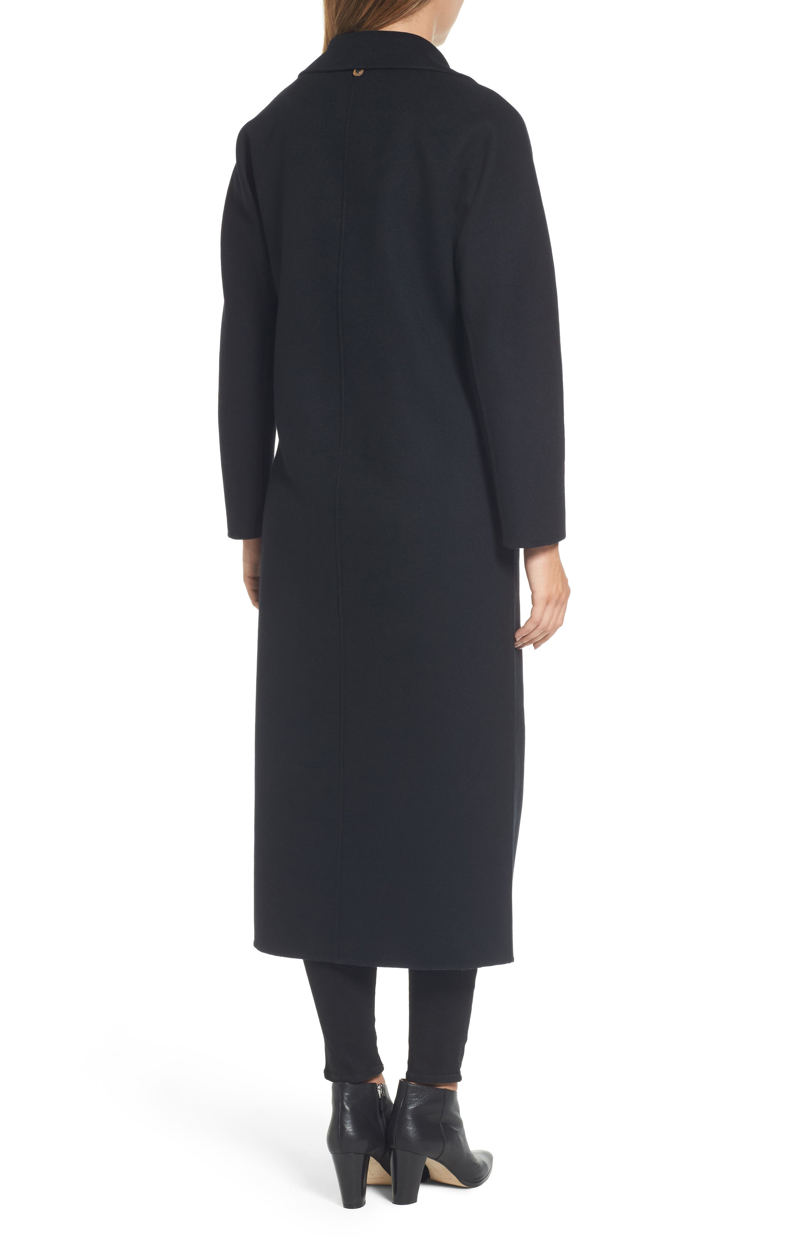 Adriana Wool Reefer Coat,                             Alternate thumbnail 2, color,                             001