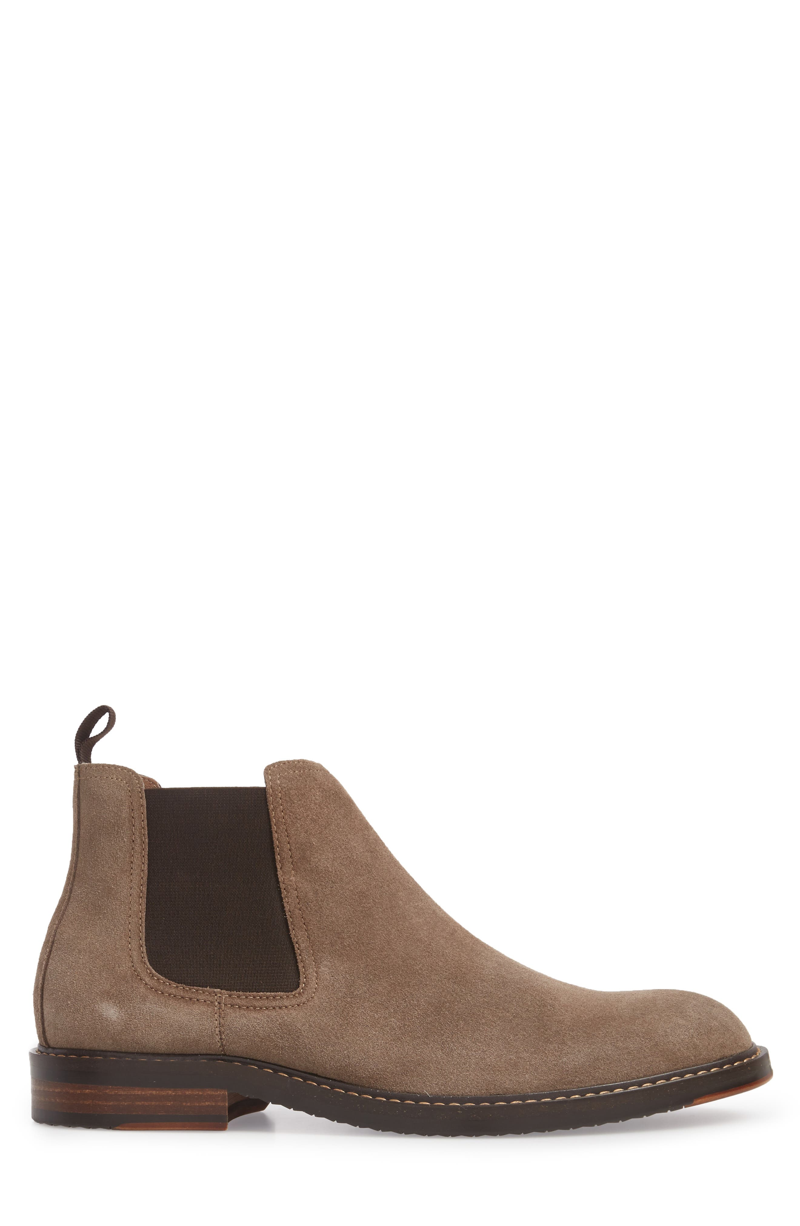 Brooks Chelsea Boot,                             Alternate thumbnail 3, color,                             TAUPE SUEDE