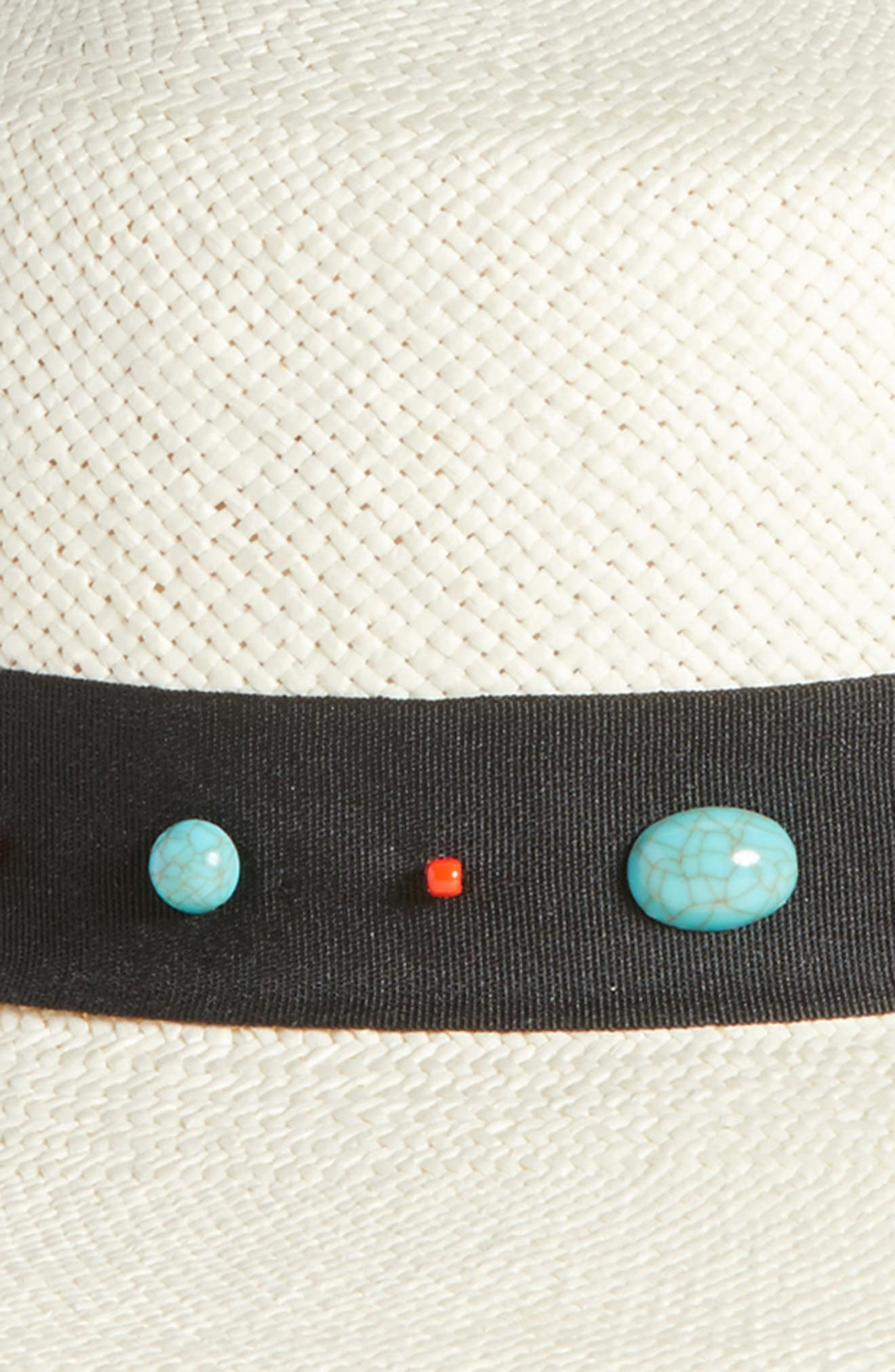 TREASURE & BOND,                             Western Straw Boater Hat,                             Alternate thumbnail 2, color,                             900