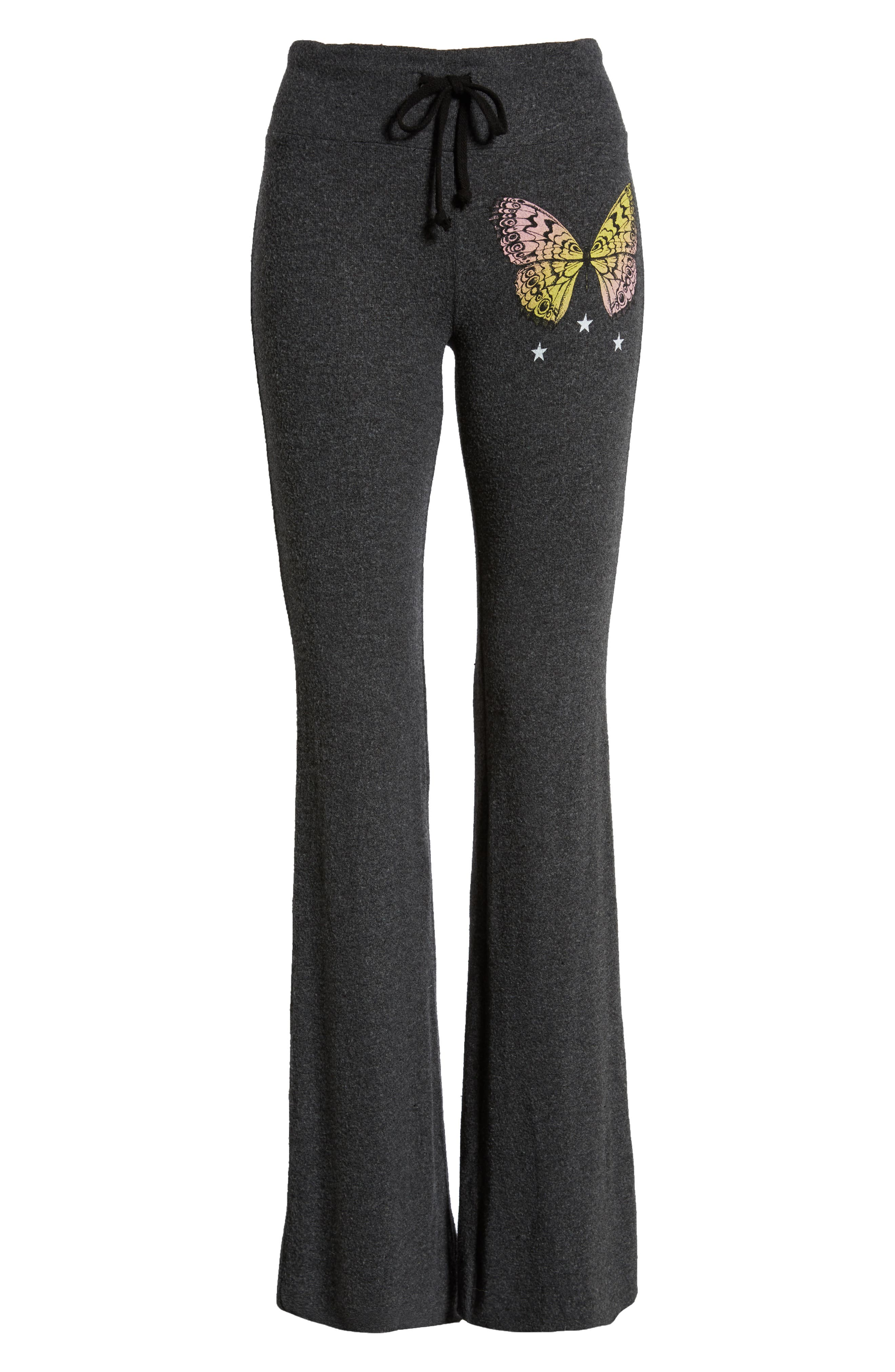Papillon Tennis Club Fleece Pants,                             Alternate thumbnail 6, color,                             CLEAN BLACK
