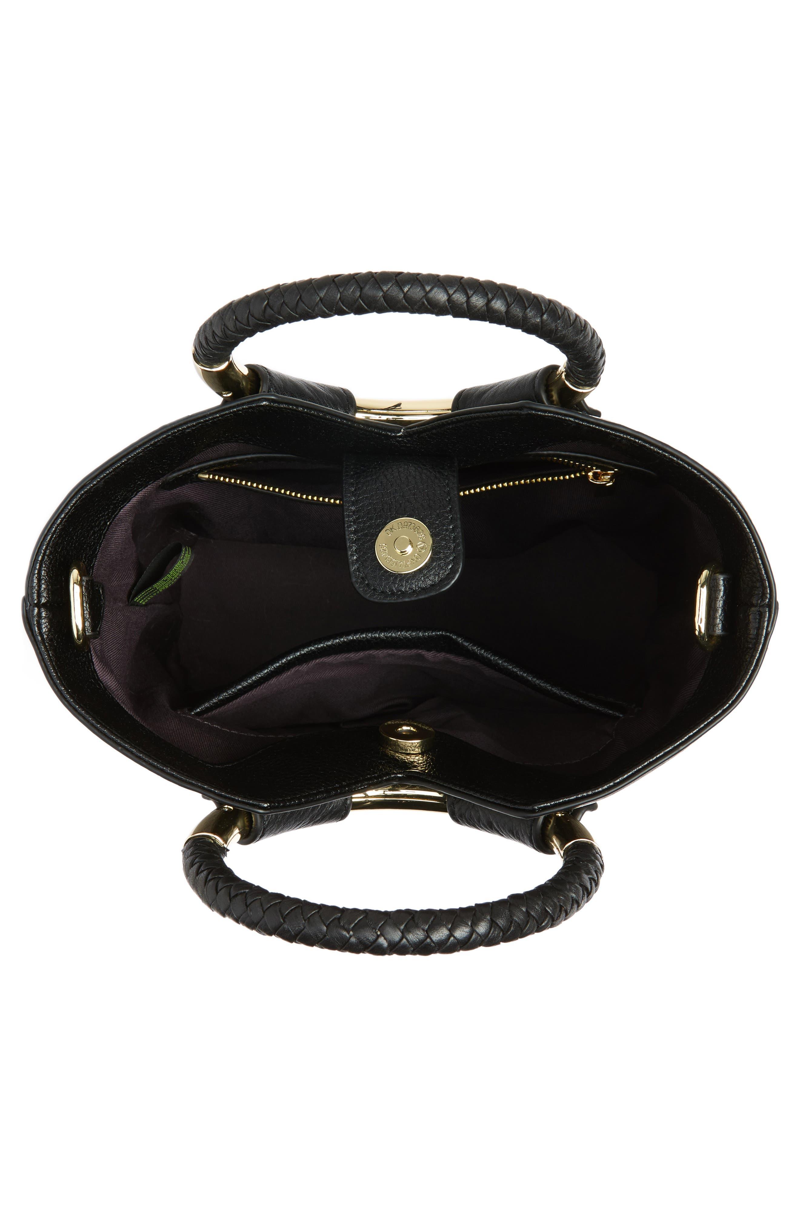 Small Elina Leather Crossbody Bag,                             Alternate thumbnail 4, color,                             001