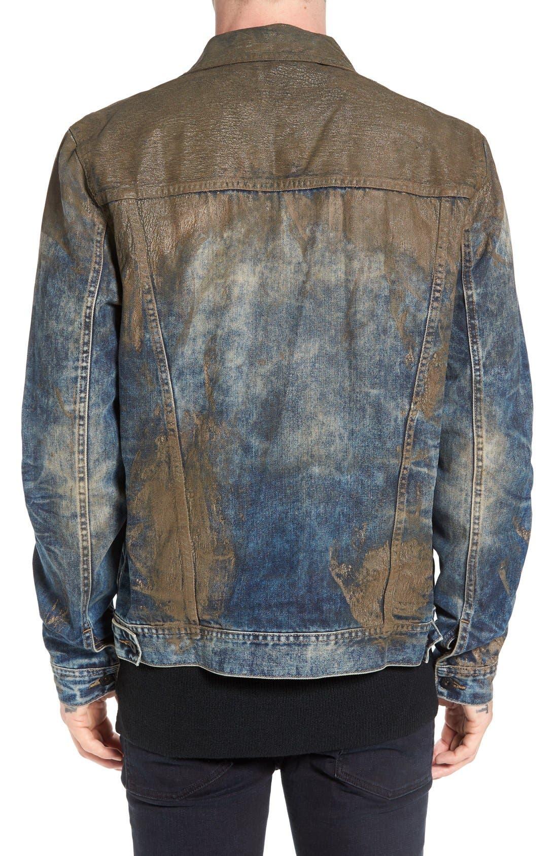Mud Denim Jacket,                             Alternate thumbnail 5, color,                             490