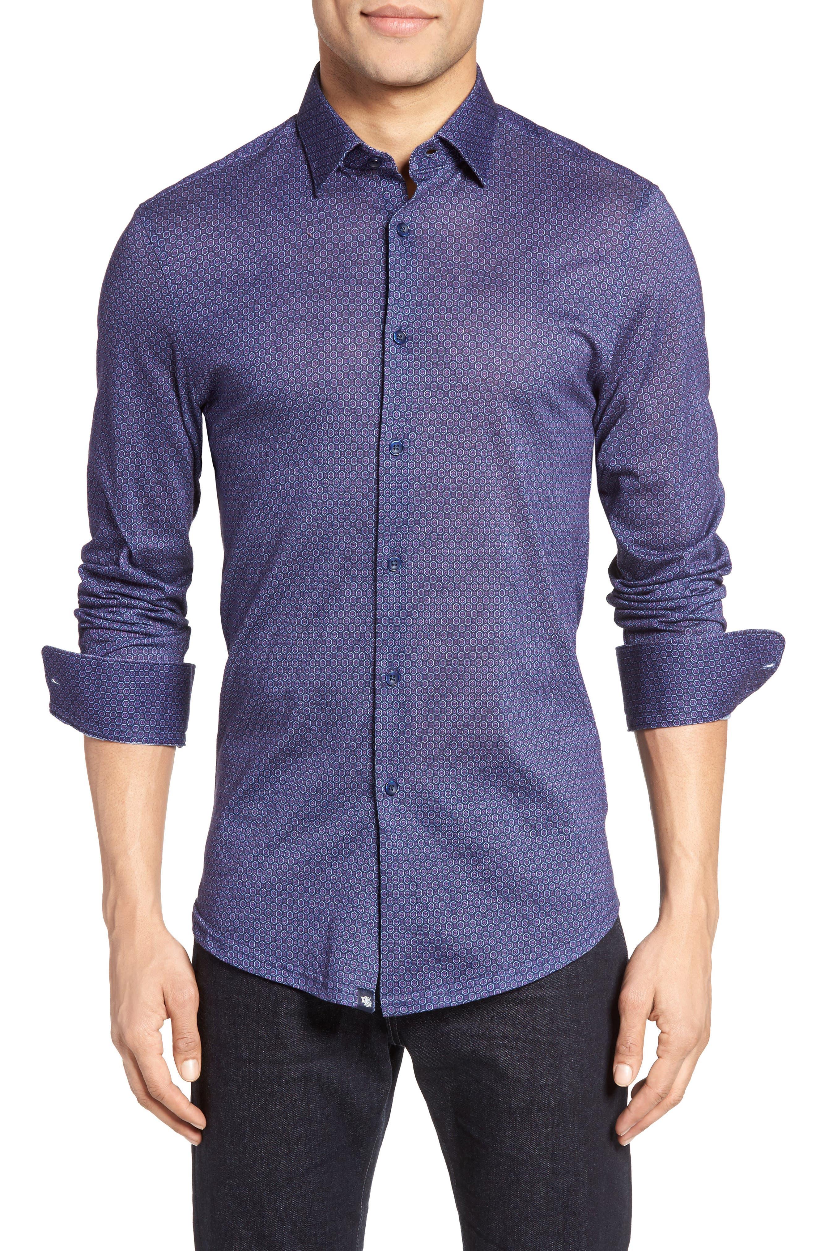 Honeycomb Geo Sport Shirt,                         Main,                         color, 410