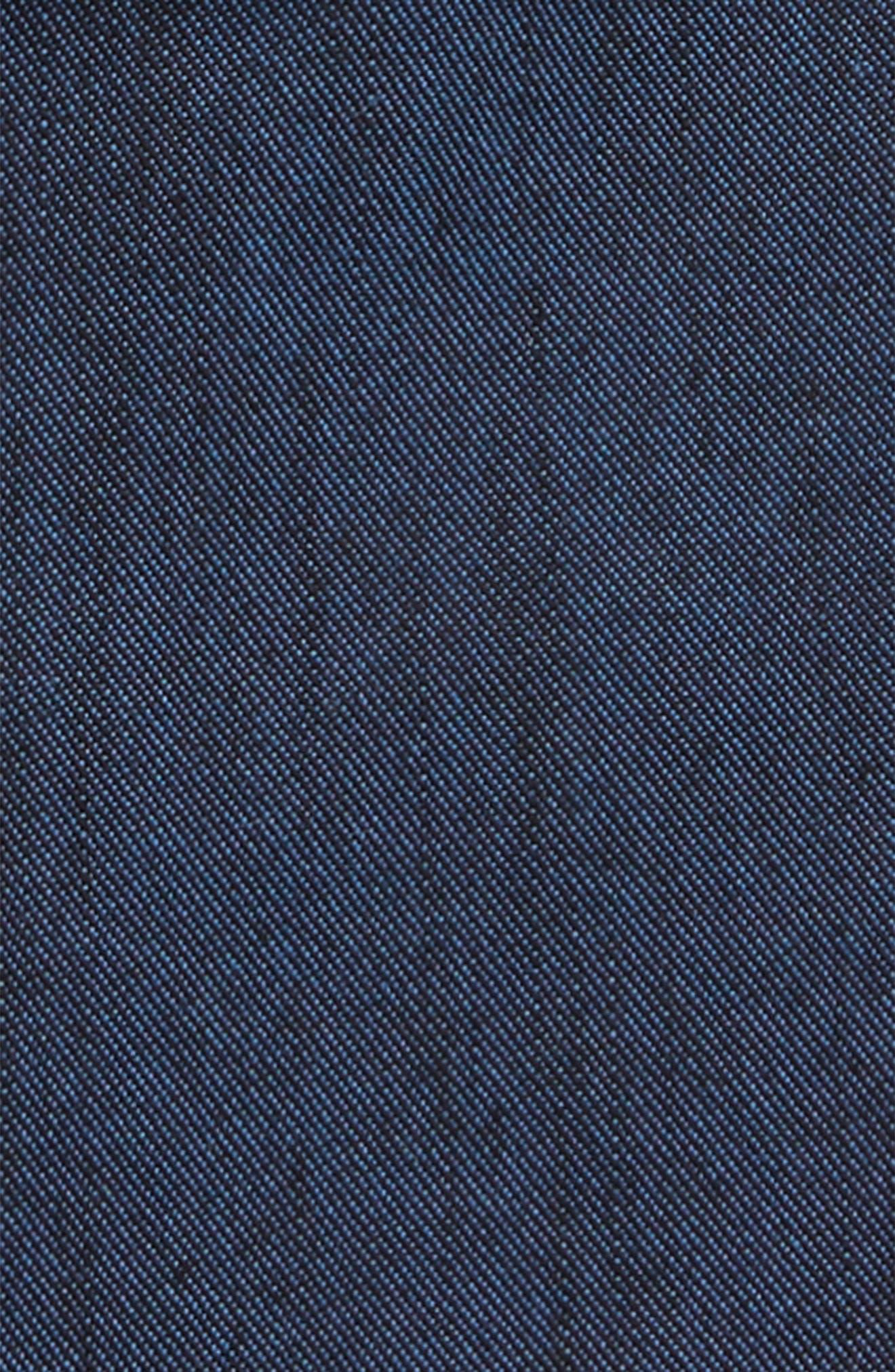 Slim Fit Chambray Zip Sport Shirt Jacket,                             Alternate thumbnail 2, color,                             400