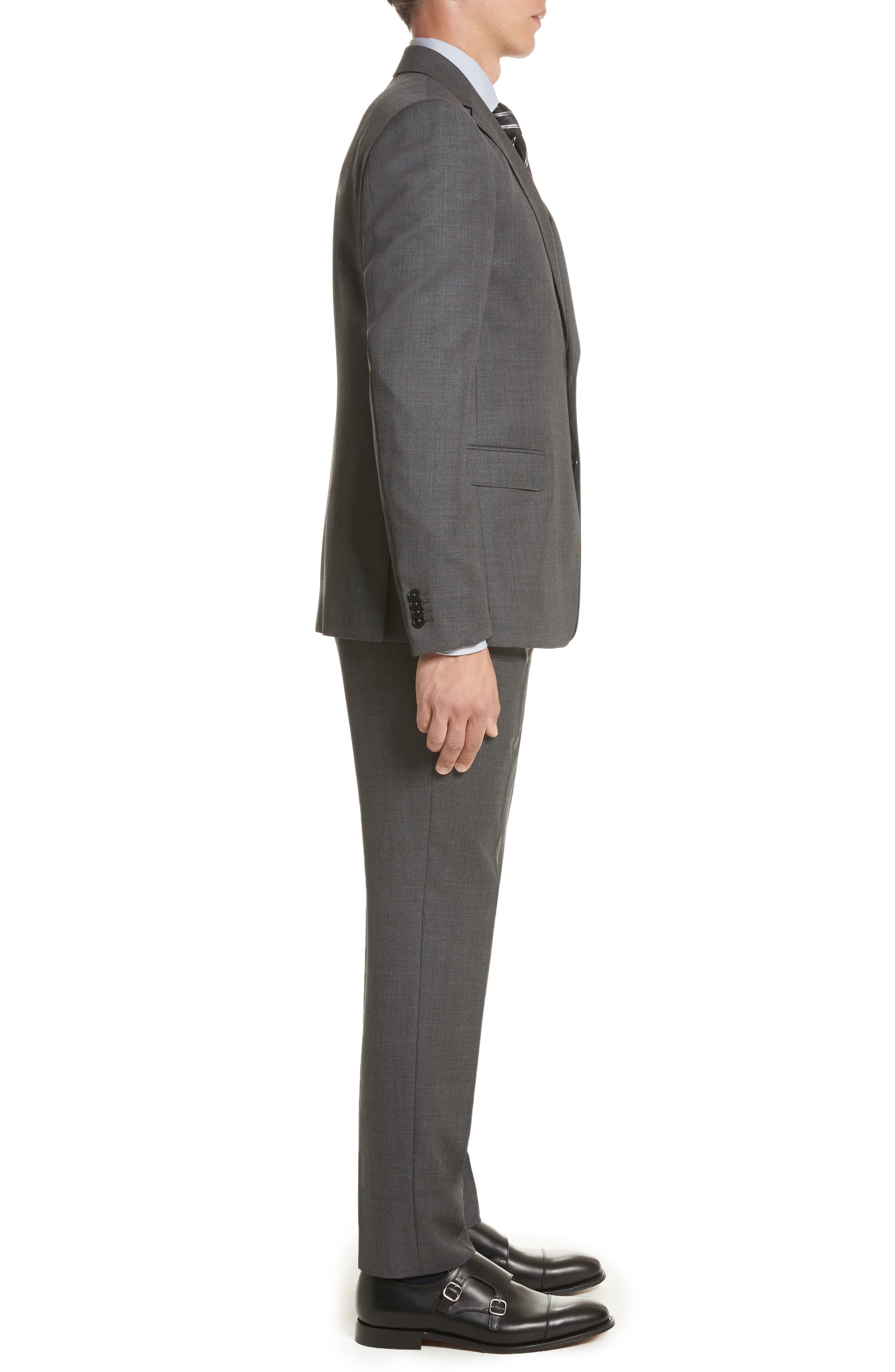 Z ZEGNA,                             Classic Fit Wool Suit,                             Alternate thumbnail 3, color,                             022