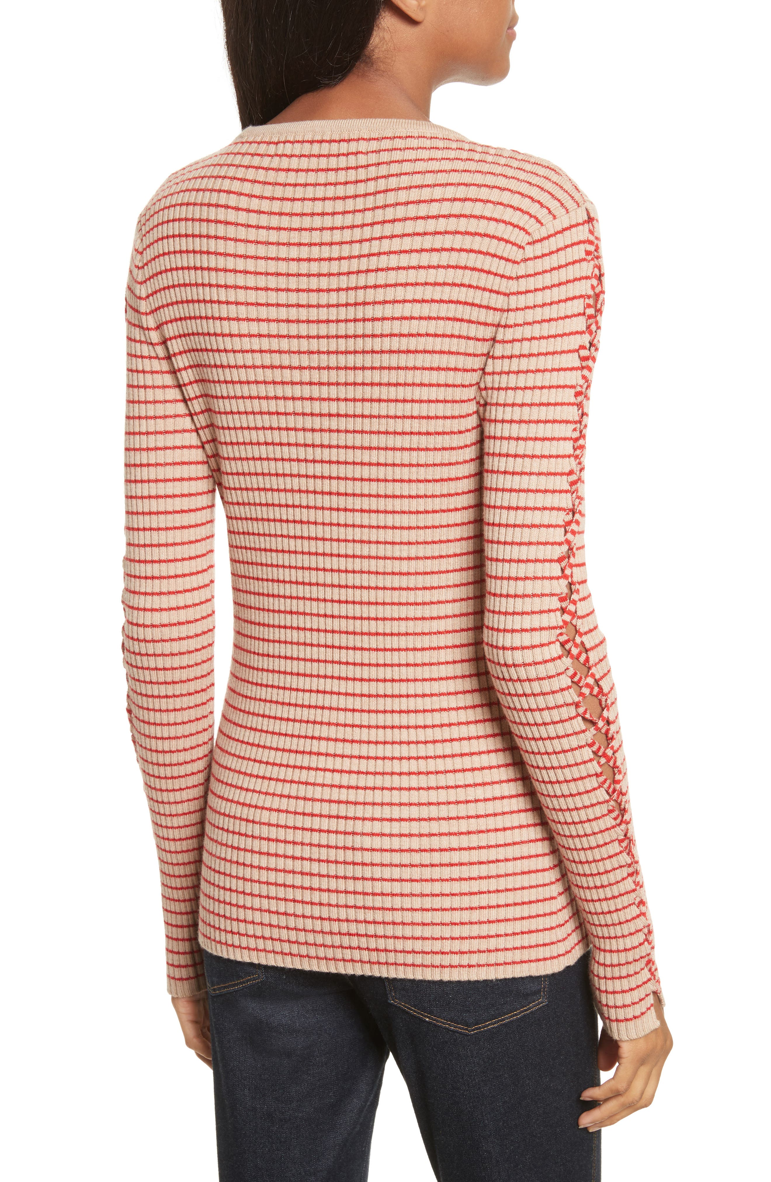 Palos Lace-Up Stretch Wool Top,                             Alternate thumbnail 2, color,                             250