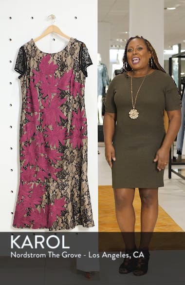 Two Tone Embroidered Lace Dress, sales video thumbnail