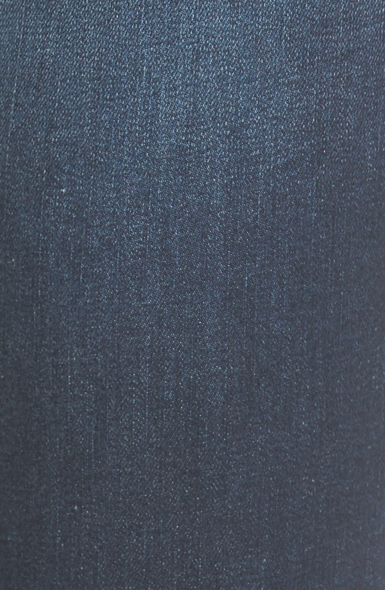 High Waist Step Hem Skinny Jeans,                             Alternate thumbnail 5, color,                             401