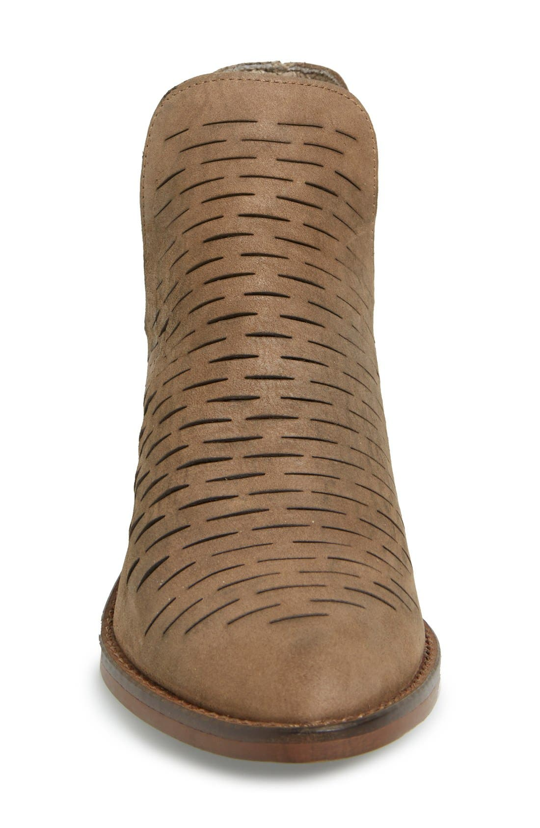 'Arowe' Perforated Bootie,                             Alternate thumbnail 2, color,                             020