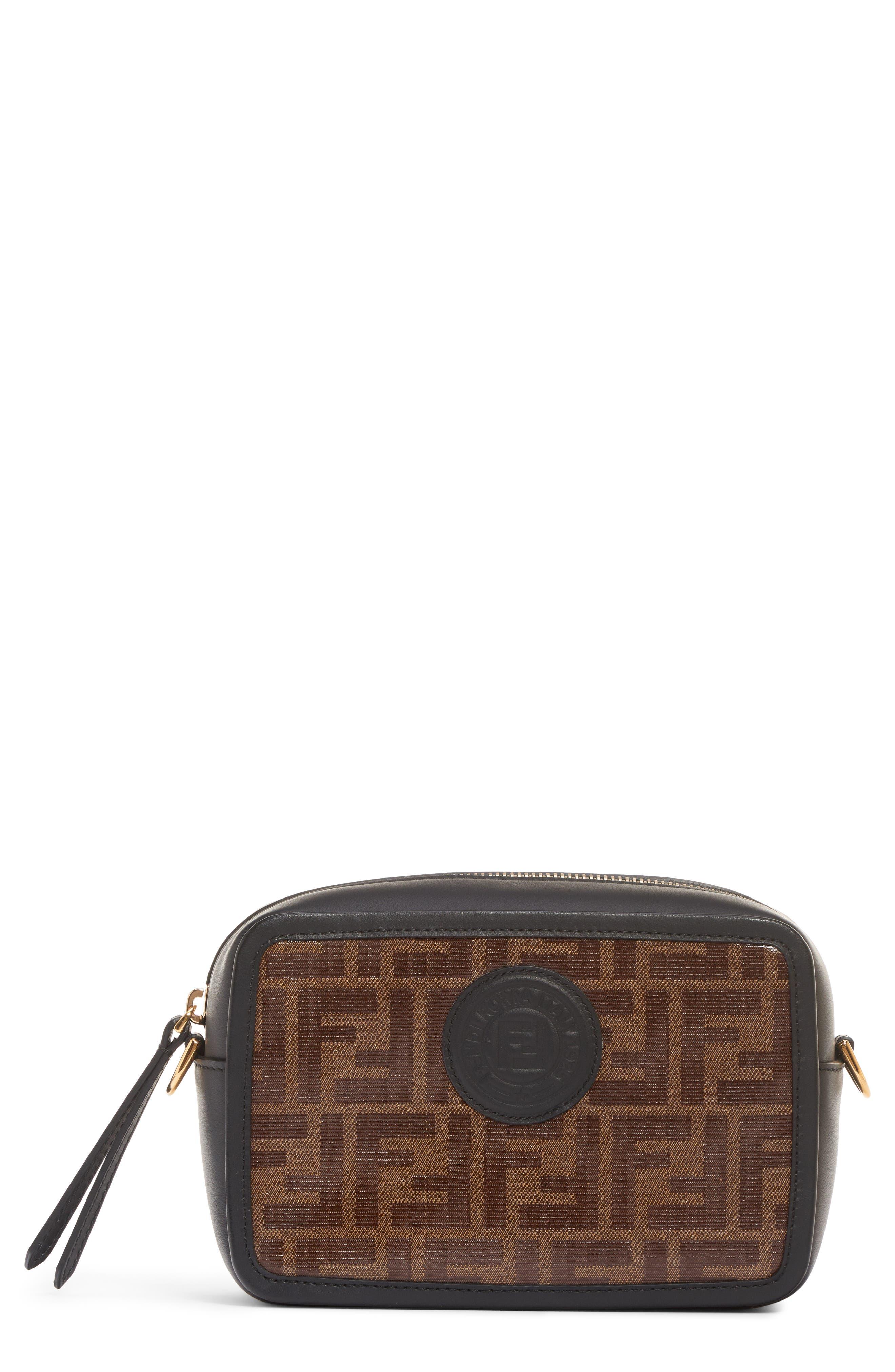 Logo Canvas Camera Bag,                         Main,                         color, MOHOGANY PANNA/ NERO/ ORO SOFT