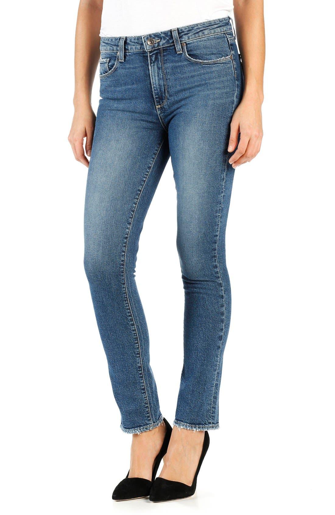 Julia High Waist Straight Leg Jeans,                             Alternate thumbnail 5, color,                             400