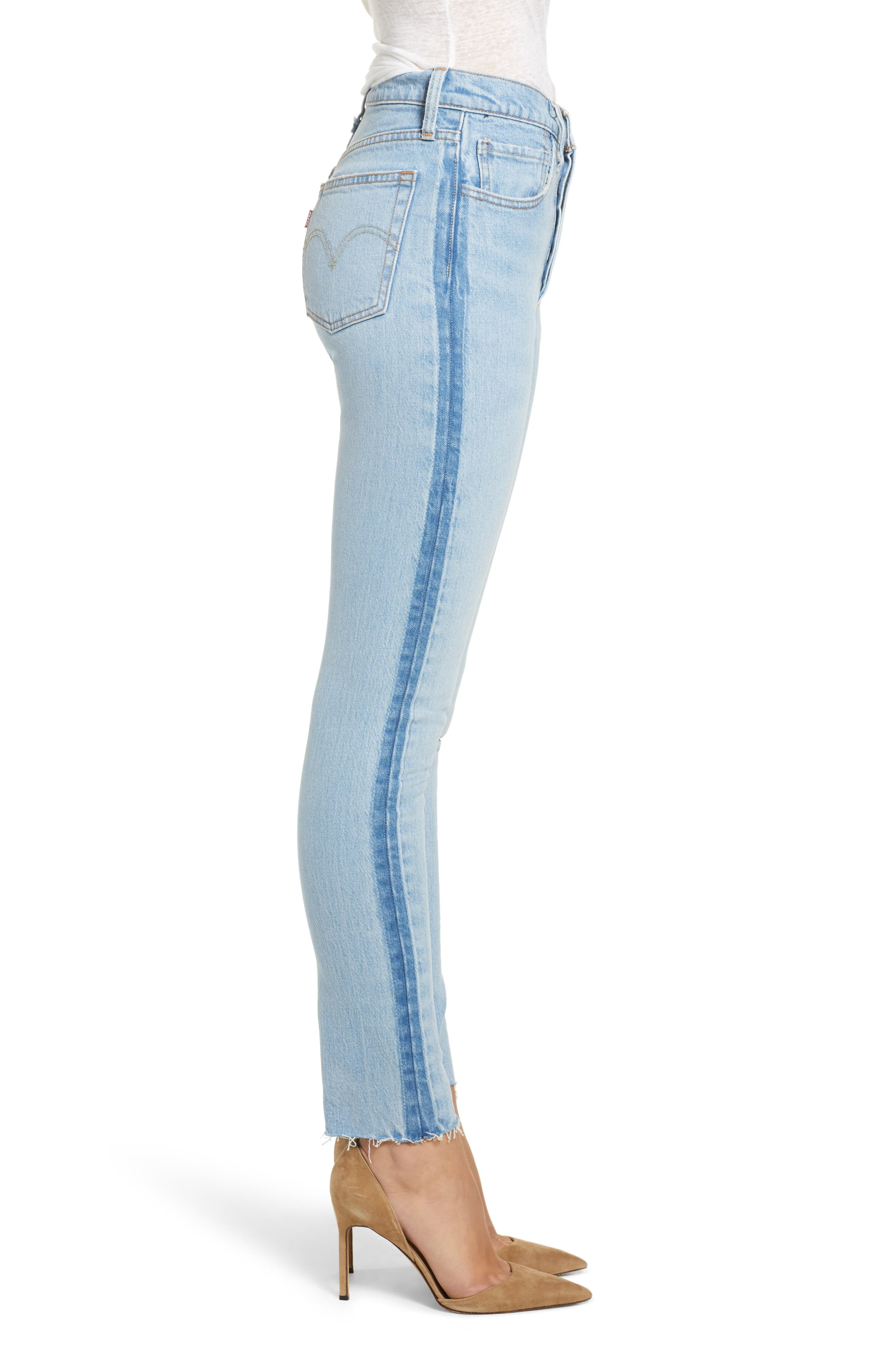 501<sup>®</sup> High Waist Skinny Jeans,                             Alternate thumbnail 3, color,                             SMARTY