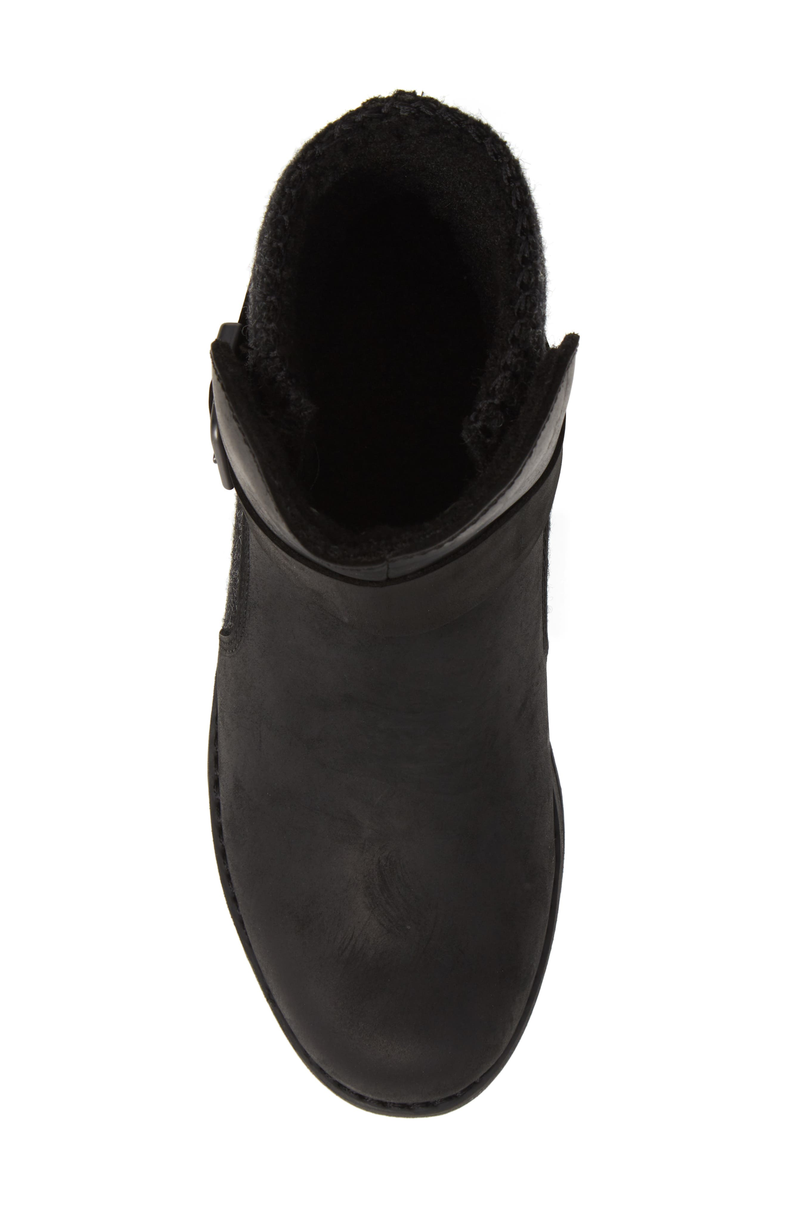 Pioneer Bootie,                             Alternate thumbnail 5, color,                             BLACK LEATHER