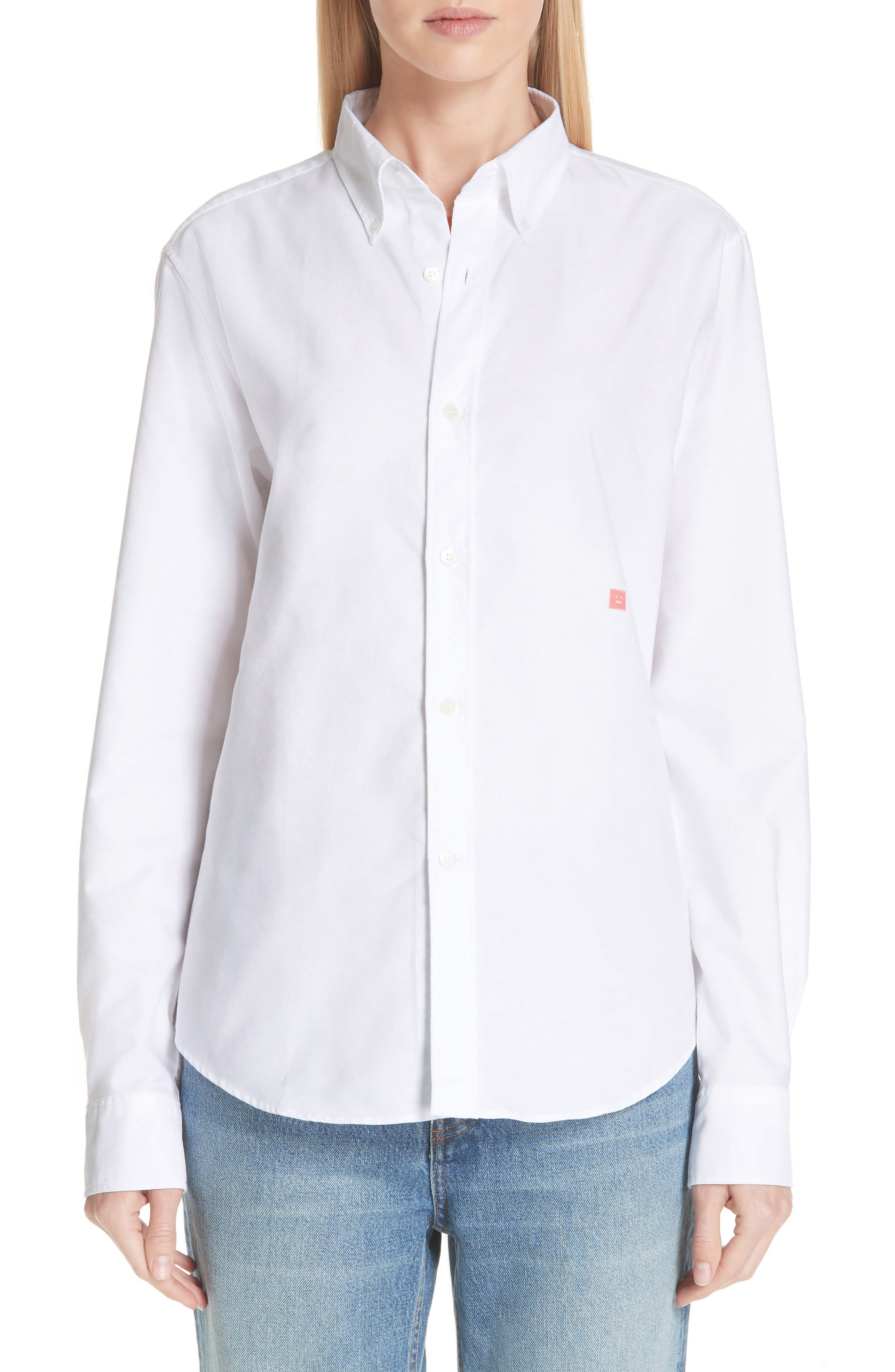 Face Patch Shirt,                         Main,                         color, OPTIC WHITE