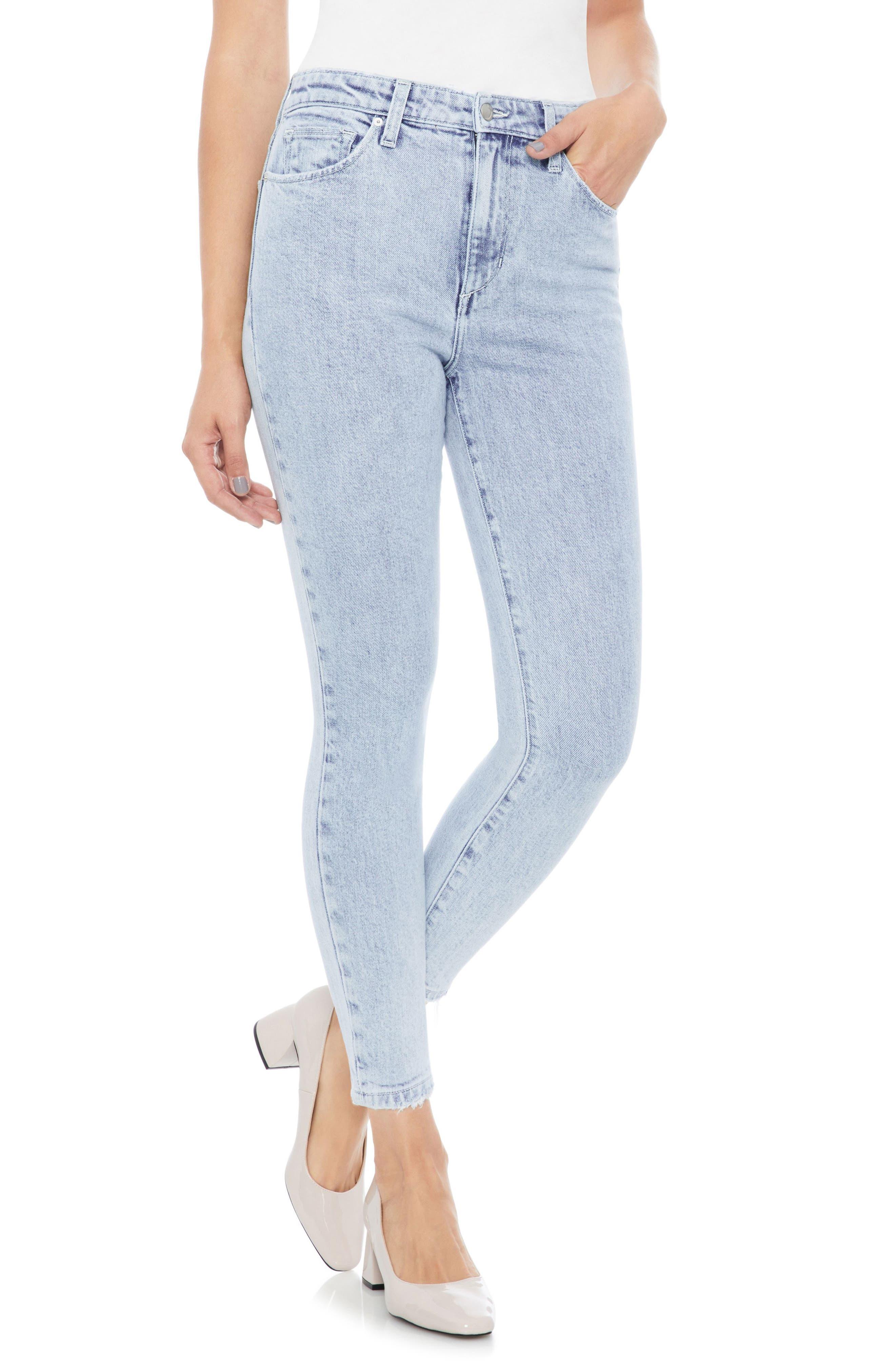 Bella High Waist Crop Skinny Jeans,                         Main,                         color, 450