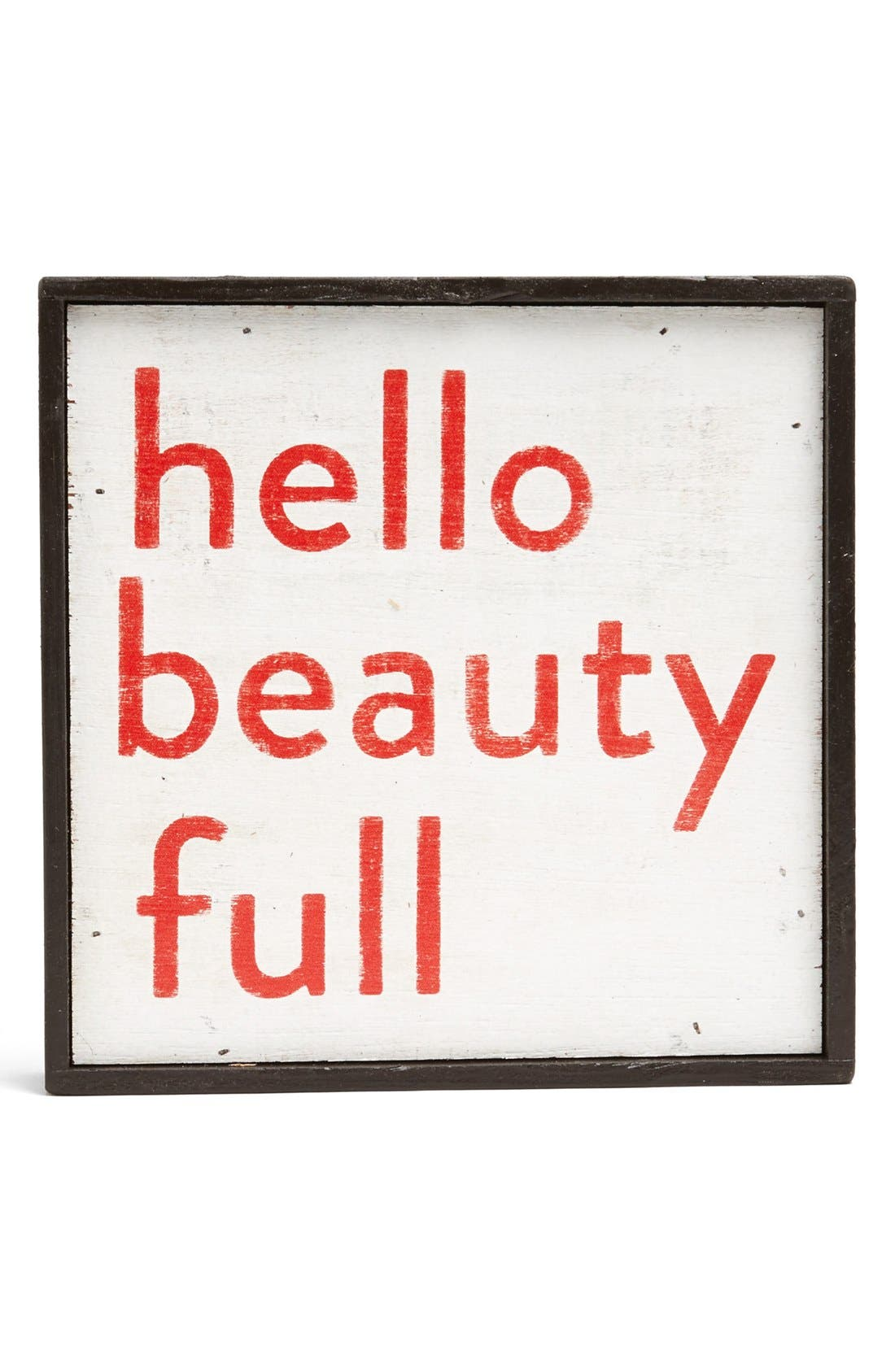 'Hello Beauty Full' Vintage Framed Art Print,                             Main thumbnail 1, color,                             600