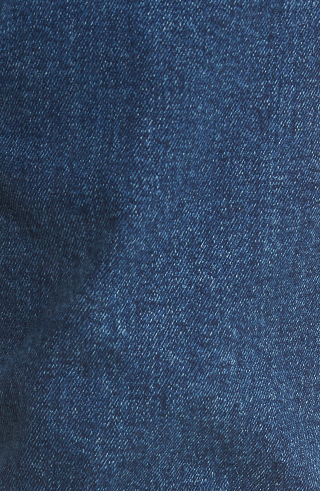 Clark Slim Straight Leg Jeans,                             Alternate thumbnail 5, color,                             WORN ASH BLUE DAMAGED