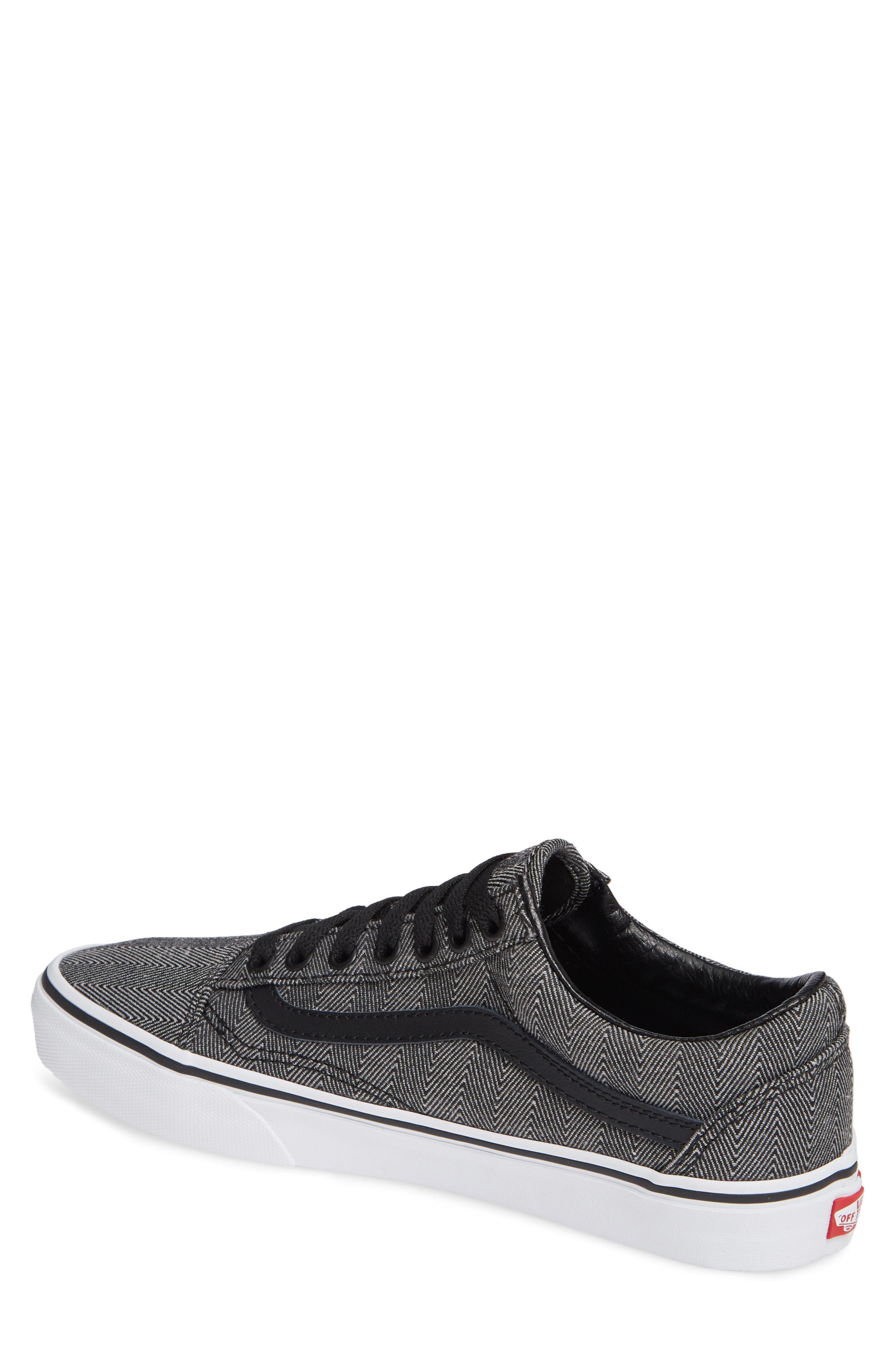 UA Old Skool Sneaker,                             Alternate thumbnail 2, color,                             BLACK/ TRUE WHITE