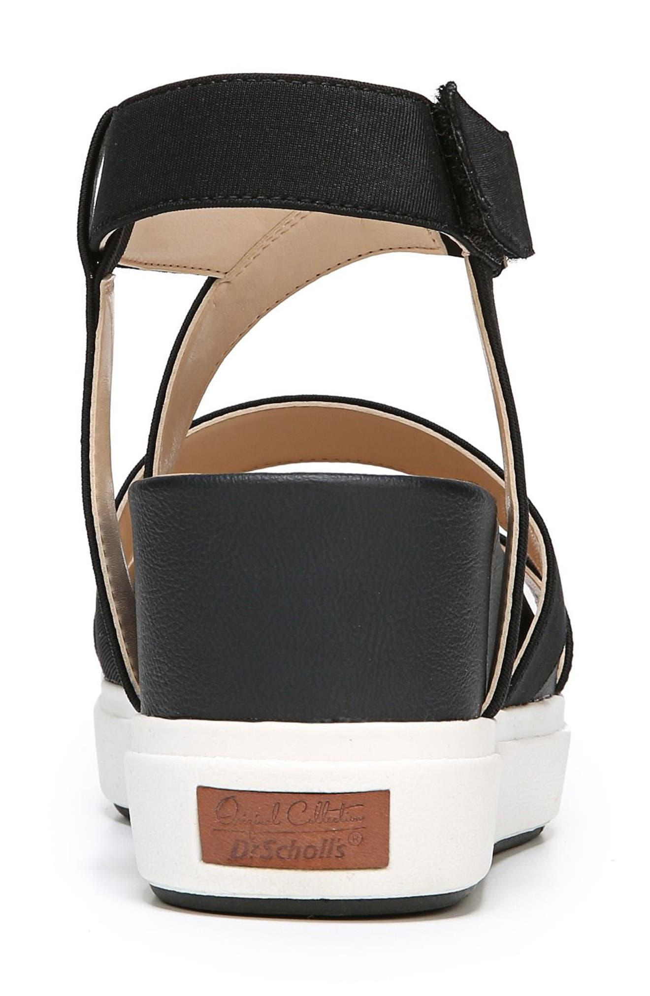 Social Wedge Sandal,                             Alternate thumbnail 7, color,                             BLACK