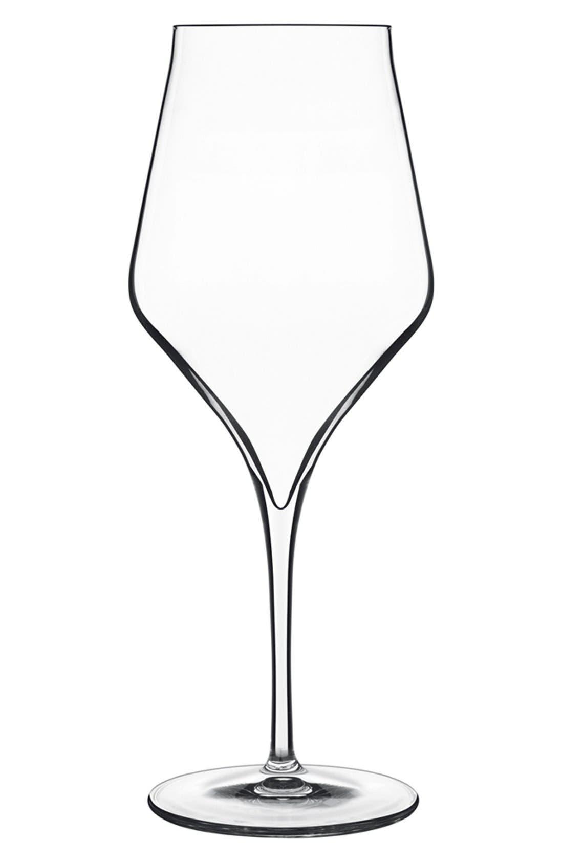 'Supremo' Bordeaux Wine Glasses,                             Main thumbnail 1, color,                             WHITE