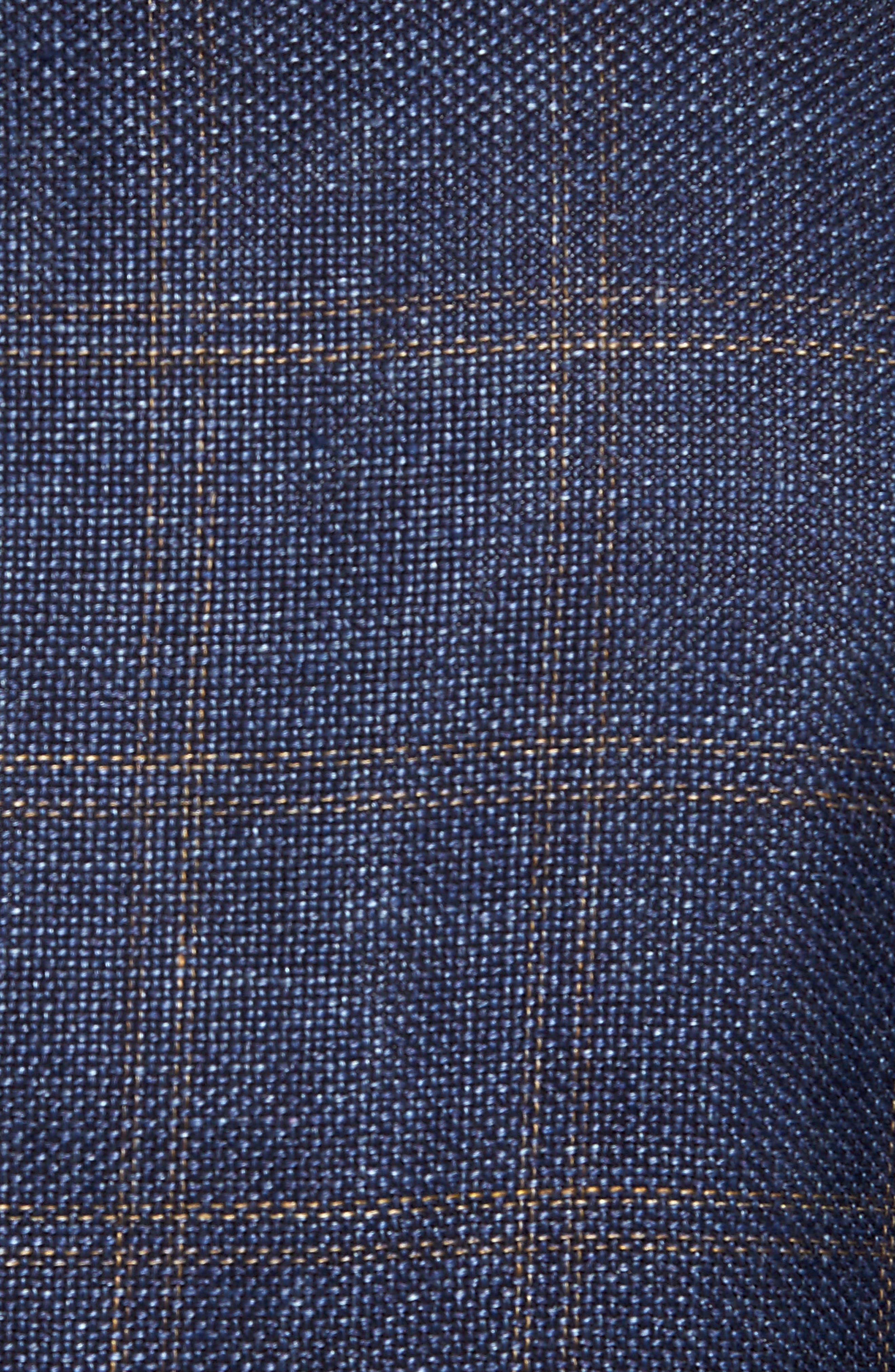 Classic Fit Windowpane Linen Blend Sport Coat,                             Alternate thumbnail 6, color,