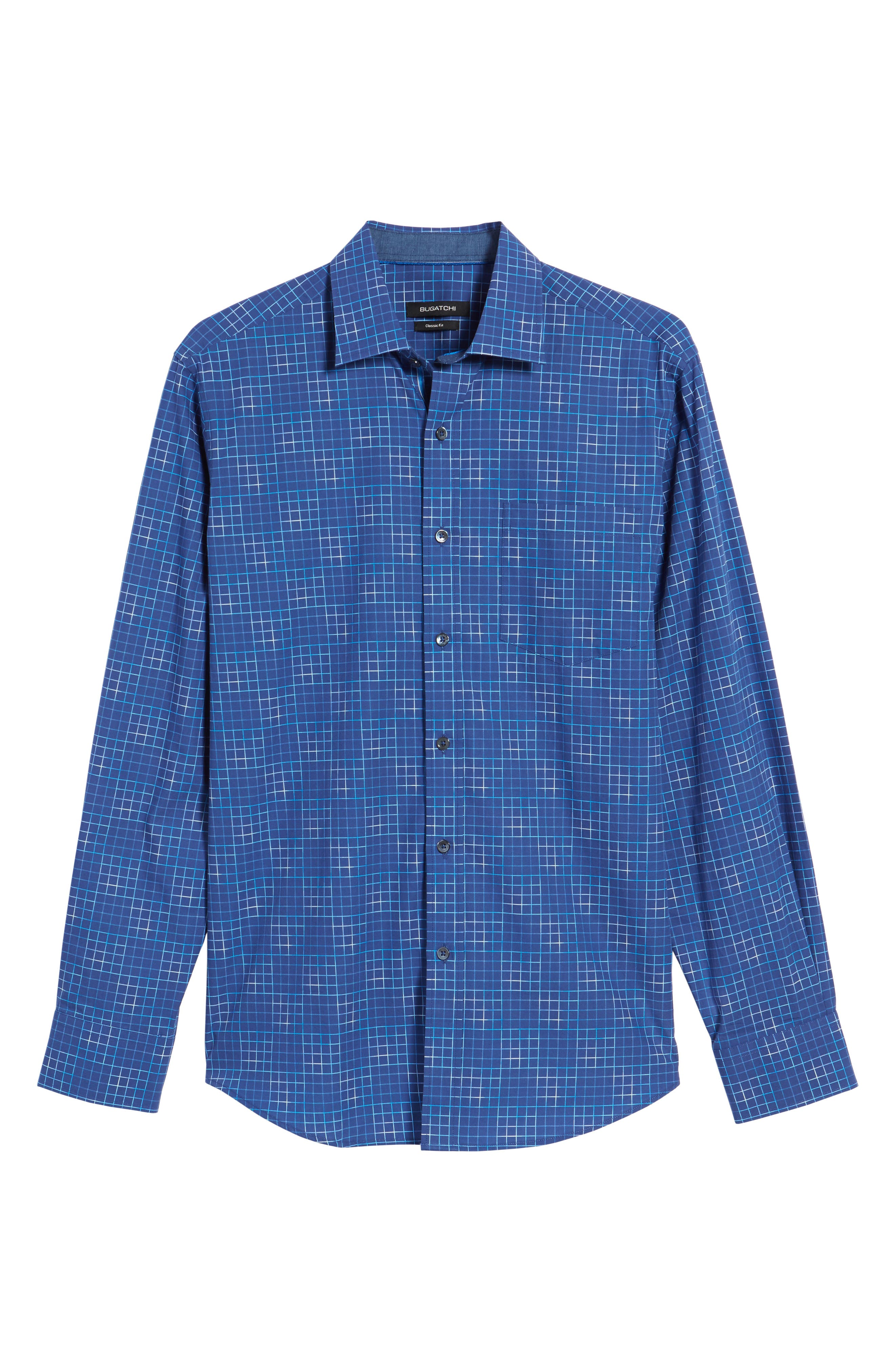 Classic Fit Check Sport Shirt,                             Alternate thumbnail 6, color,                             419