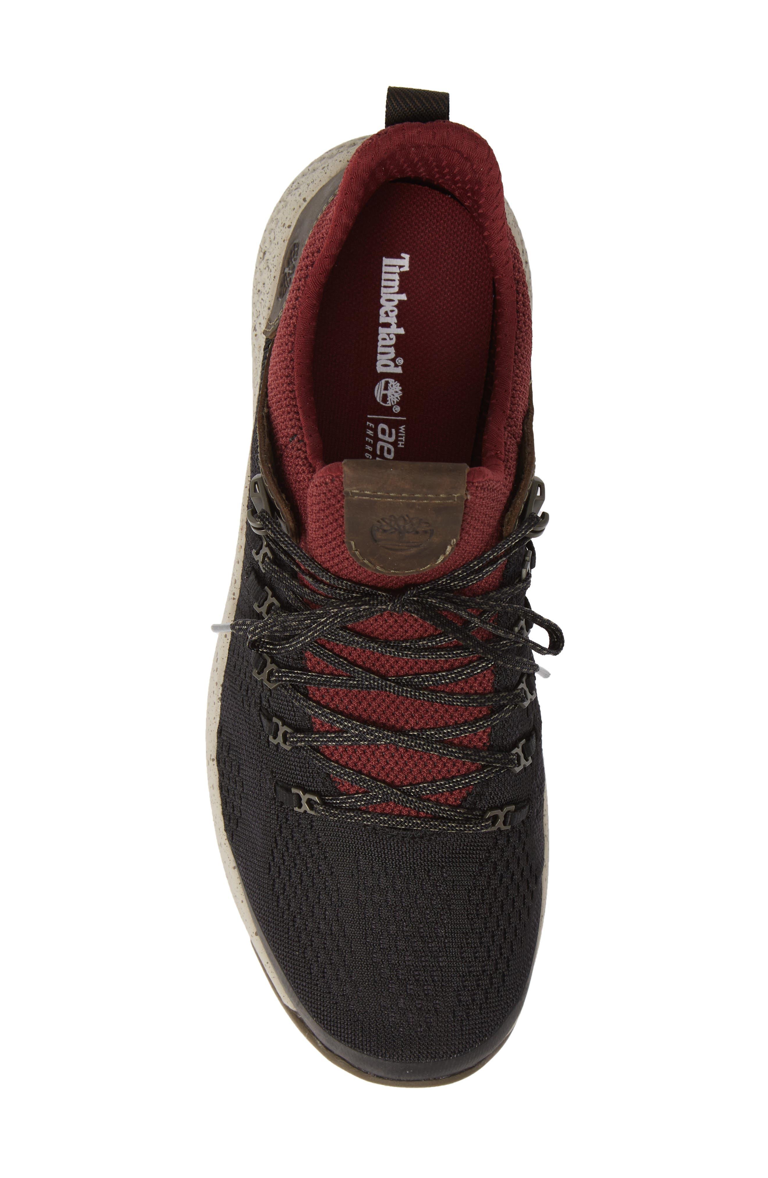 FlyRoam Trail Sneaker,                             Alternate thumbnail 5, color,                             BLACK/ BURGUNDY