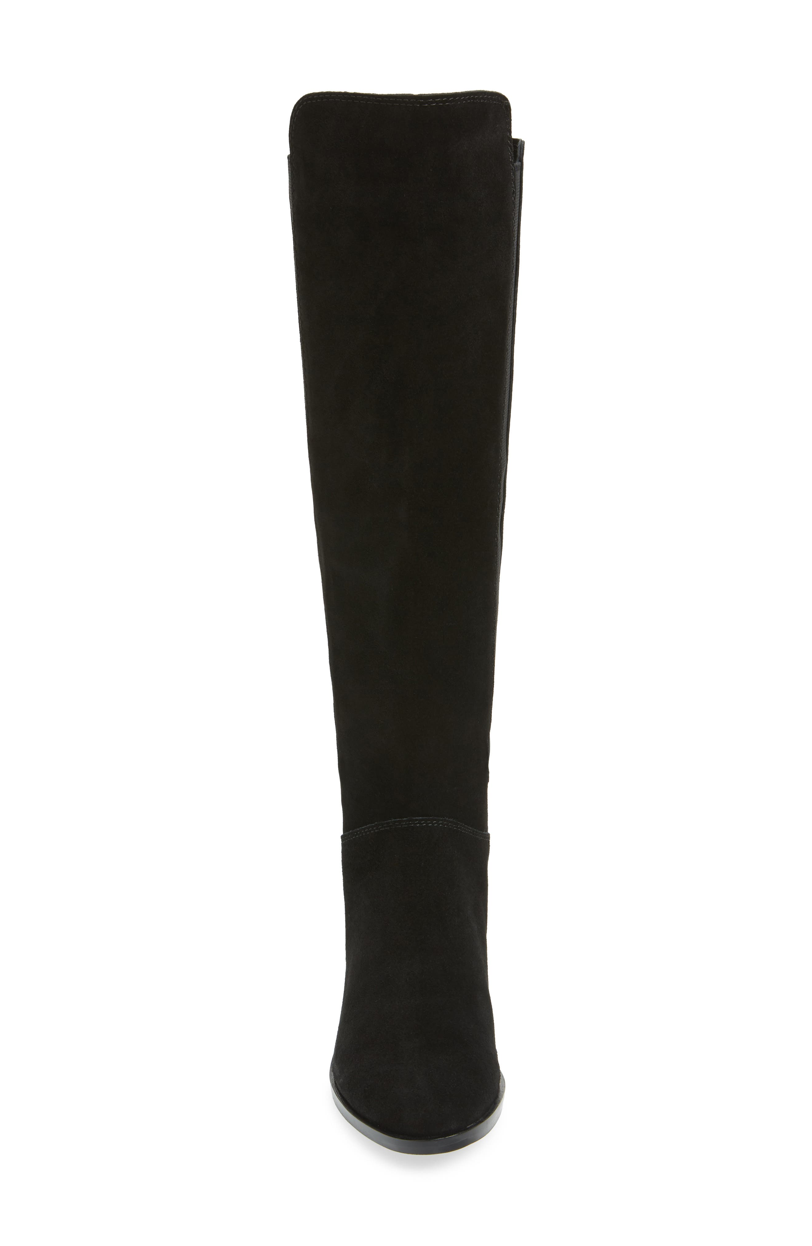 Giselle Over the Knee Boot,                             Alternate thumbnail 4, color,                             BLACK SUEDE