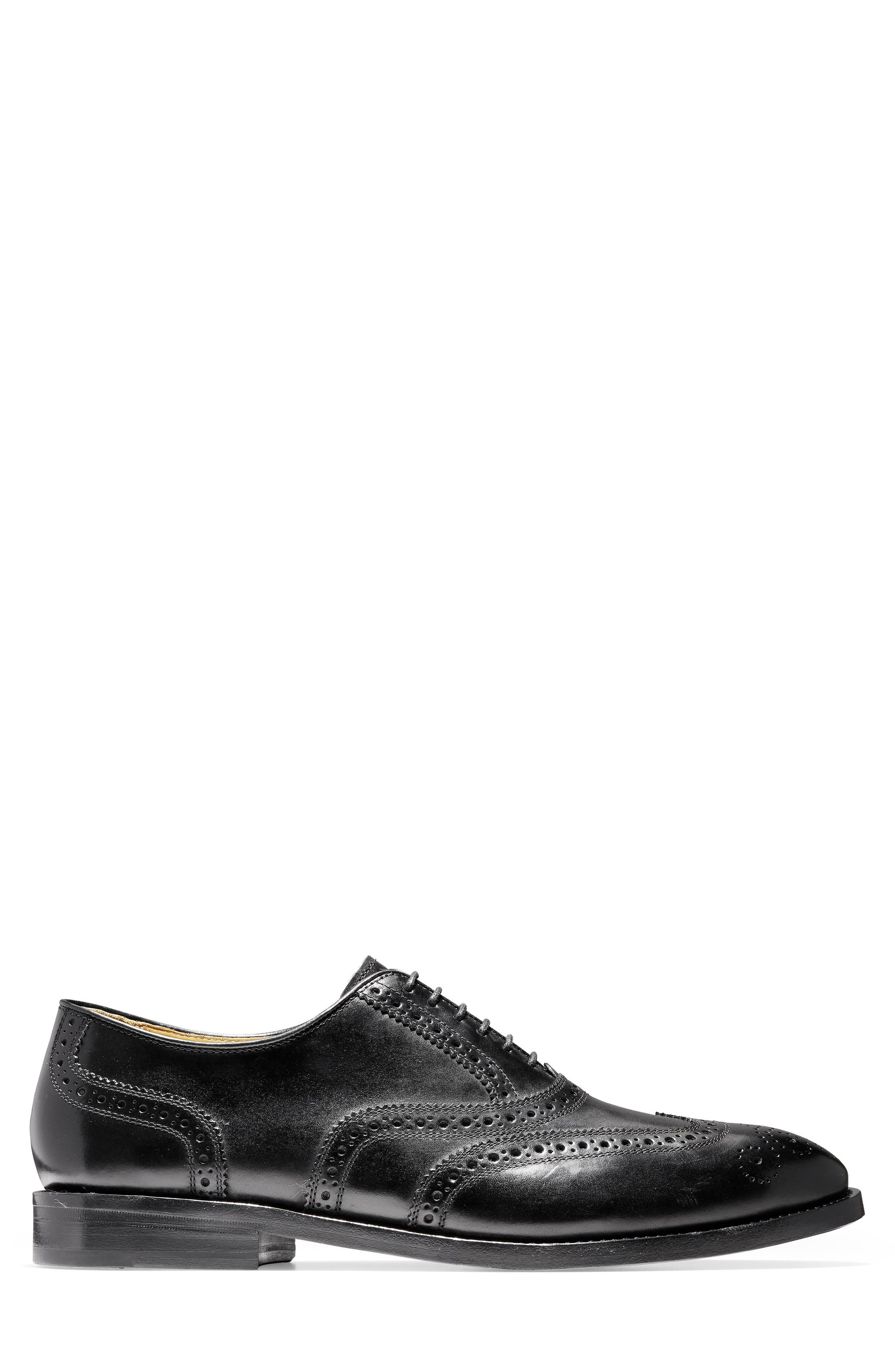 American Classics Kneeland Wingtip,                             Alternate thumbnail 3, color,                             BLACK LEATHER